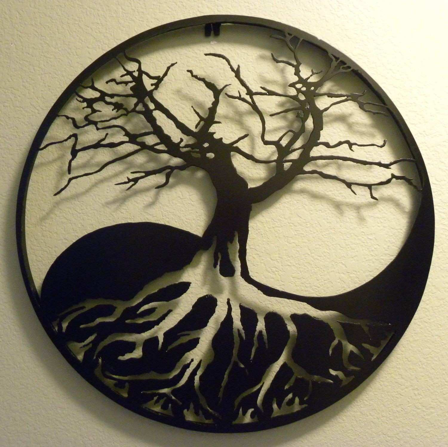 Yin Yang Tree of Life Metal Wall Art $225 00 via Etsy
