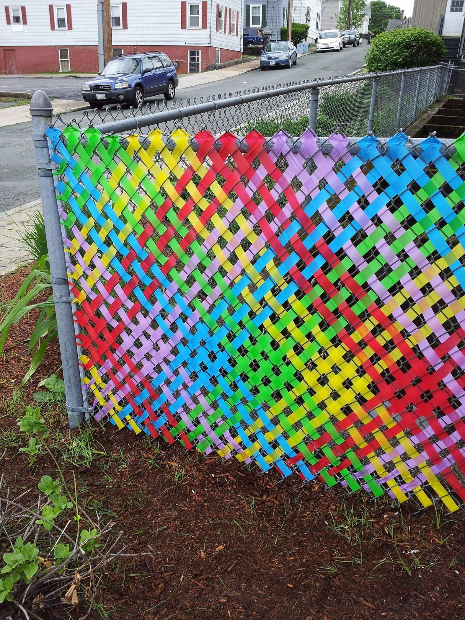 Picture of Fence with Rainbow Weaving