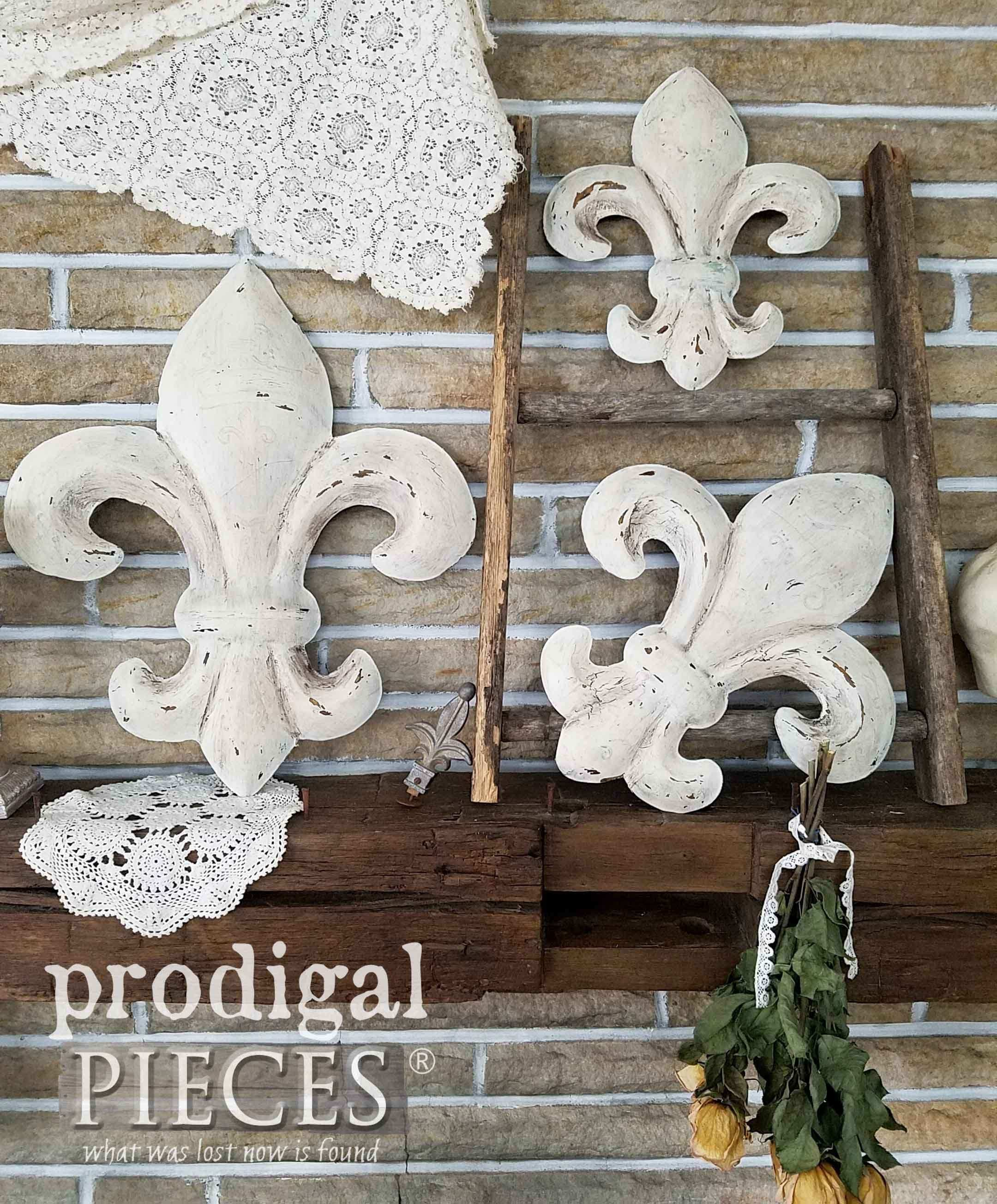 Fleur de Lis Wall Art From Thrifted to Fabulous