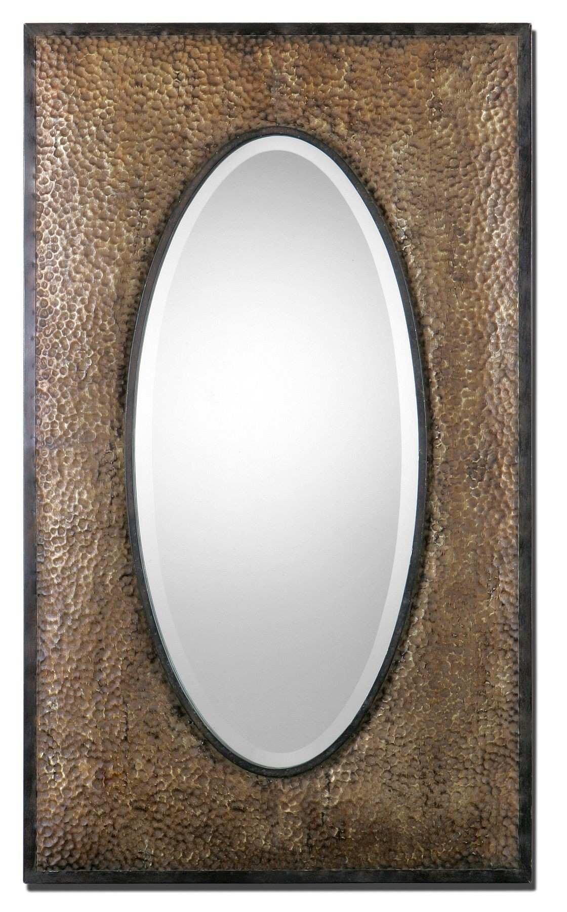 Sangro Hand hammered metal frame finished in rubbed rustic bronze