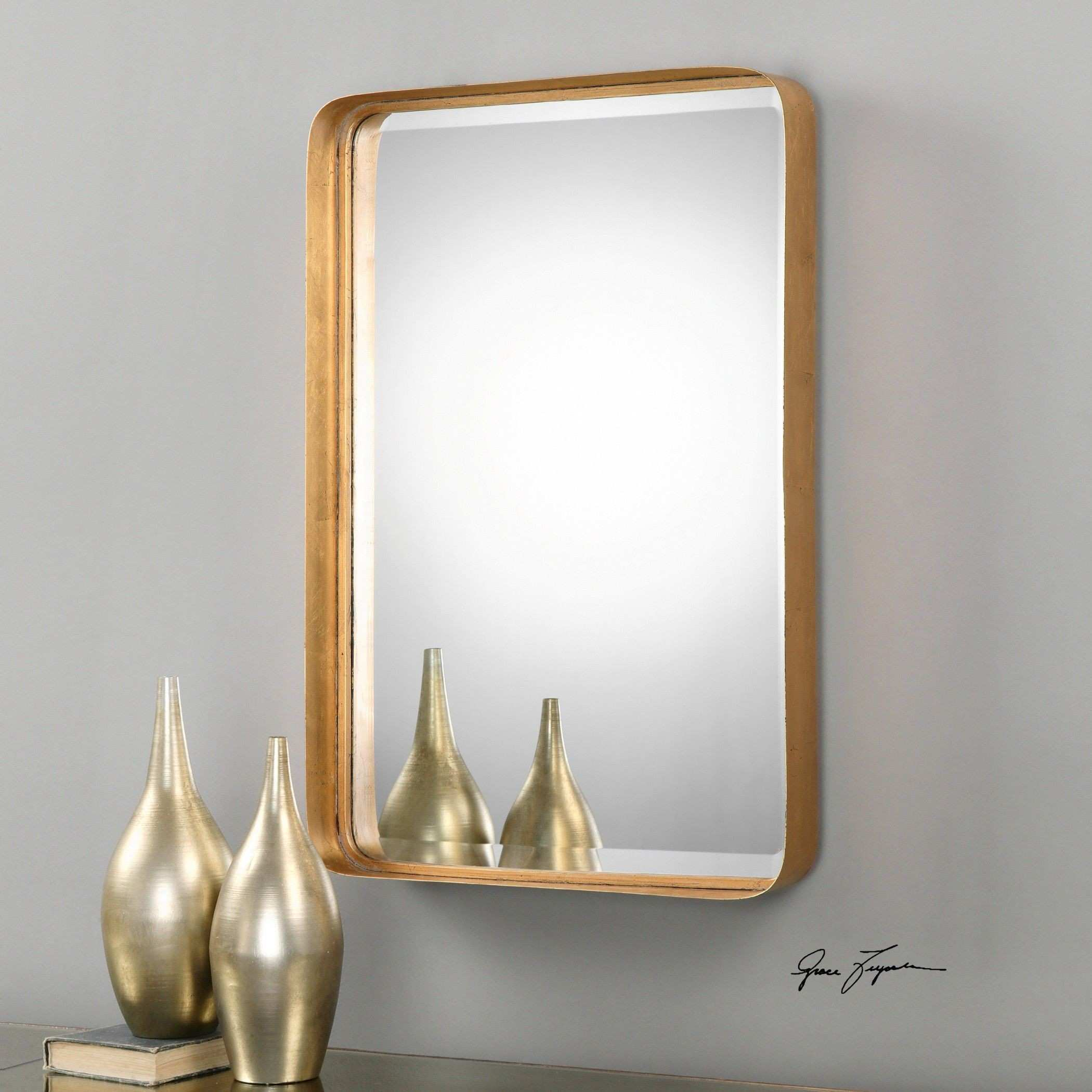 The Well Appointed House Crofton Gold Leaf Mirror