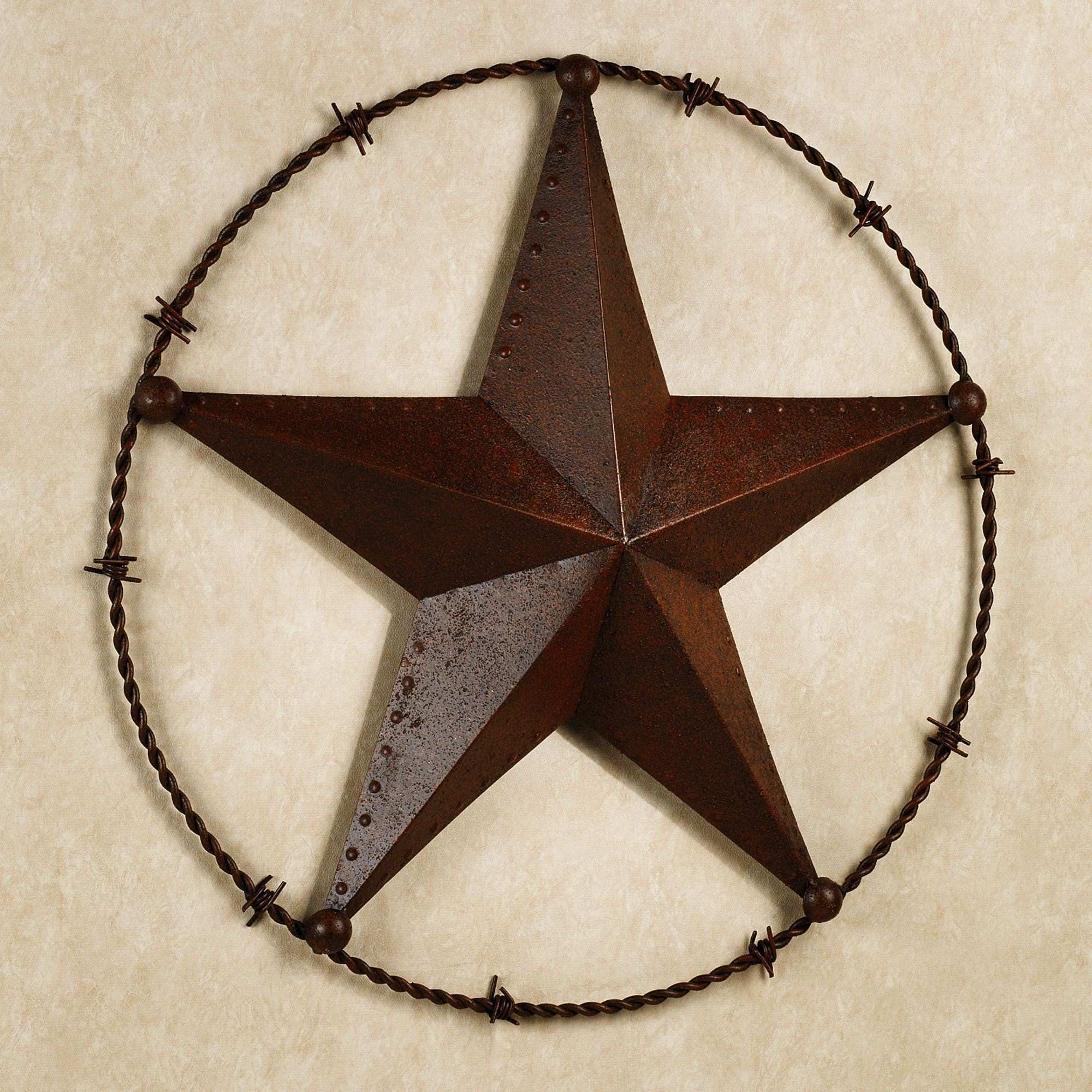 Texas Lone Star Wall Plaque Rustic Brown