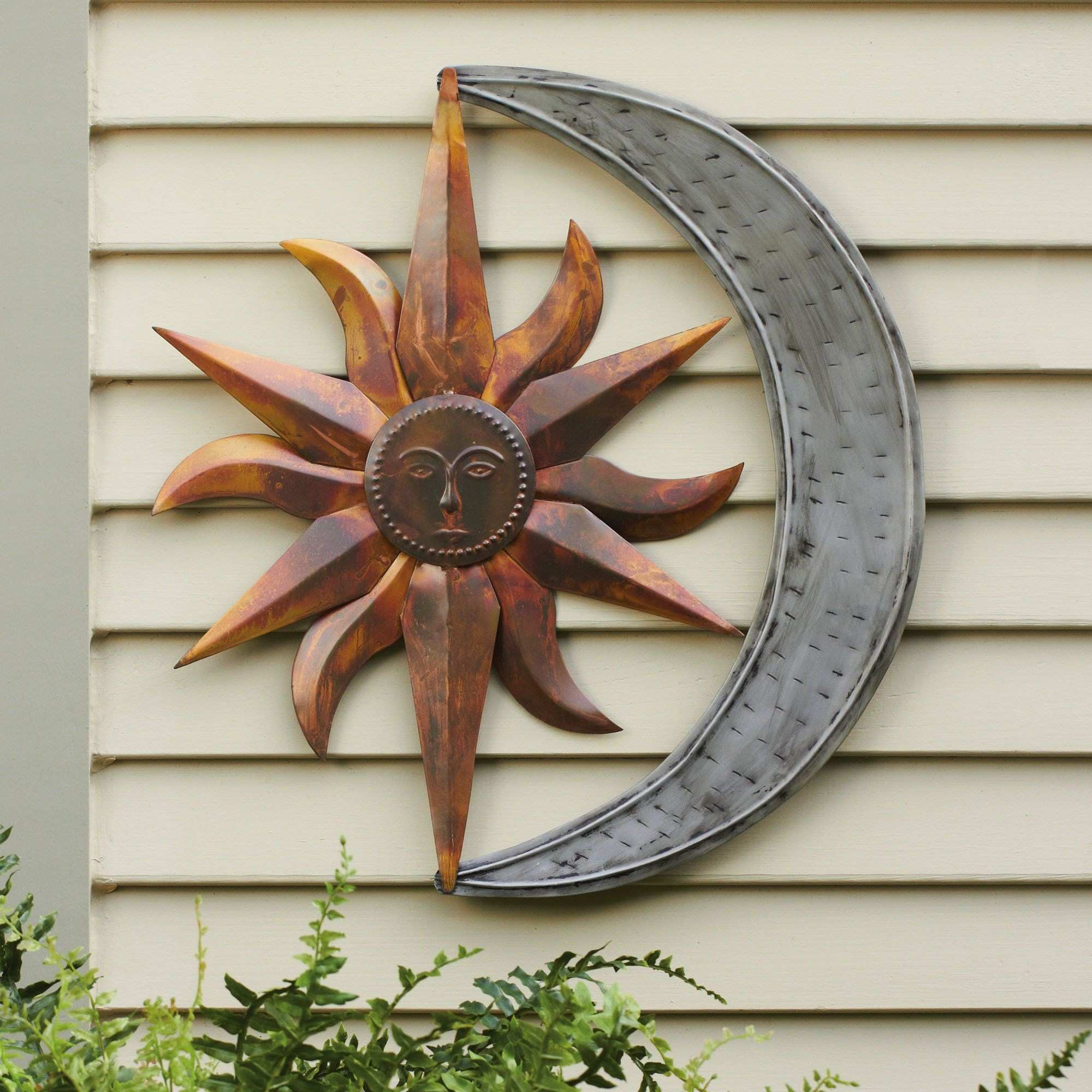 Sun and Moon Indoor Outdoor Metal Wall Art Pinterest