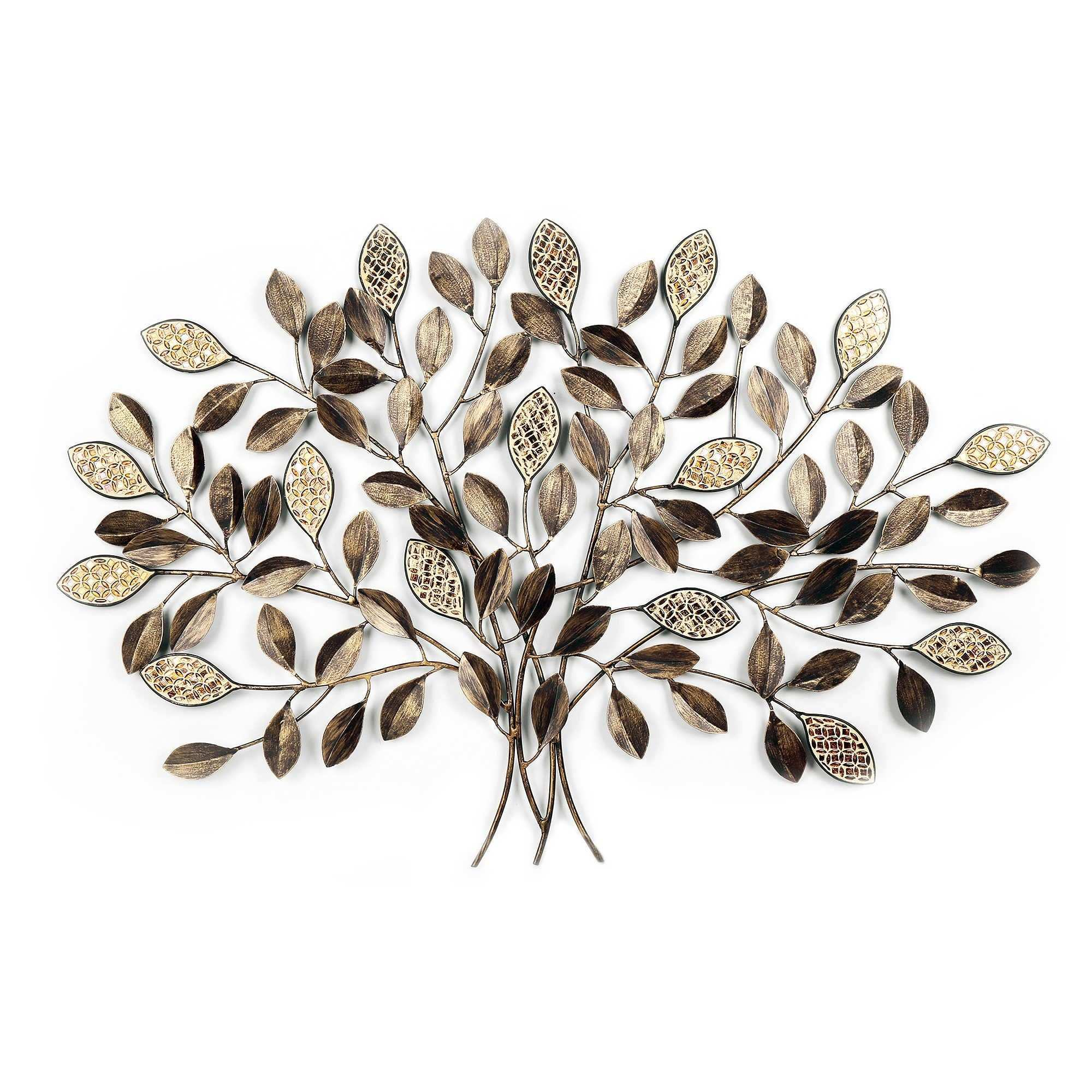 Metal Mosaic Tree Wall Décor in Bronze Home Decor