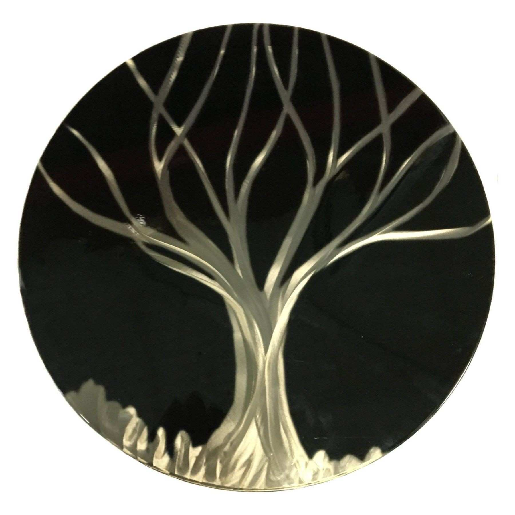 Next Innovations Black Silver Grind Tree Indoor Outdoor Metal Wall