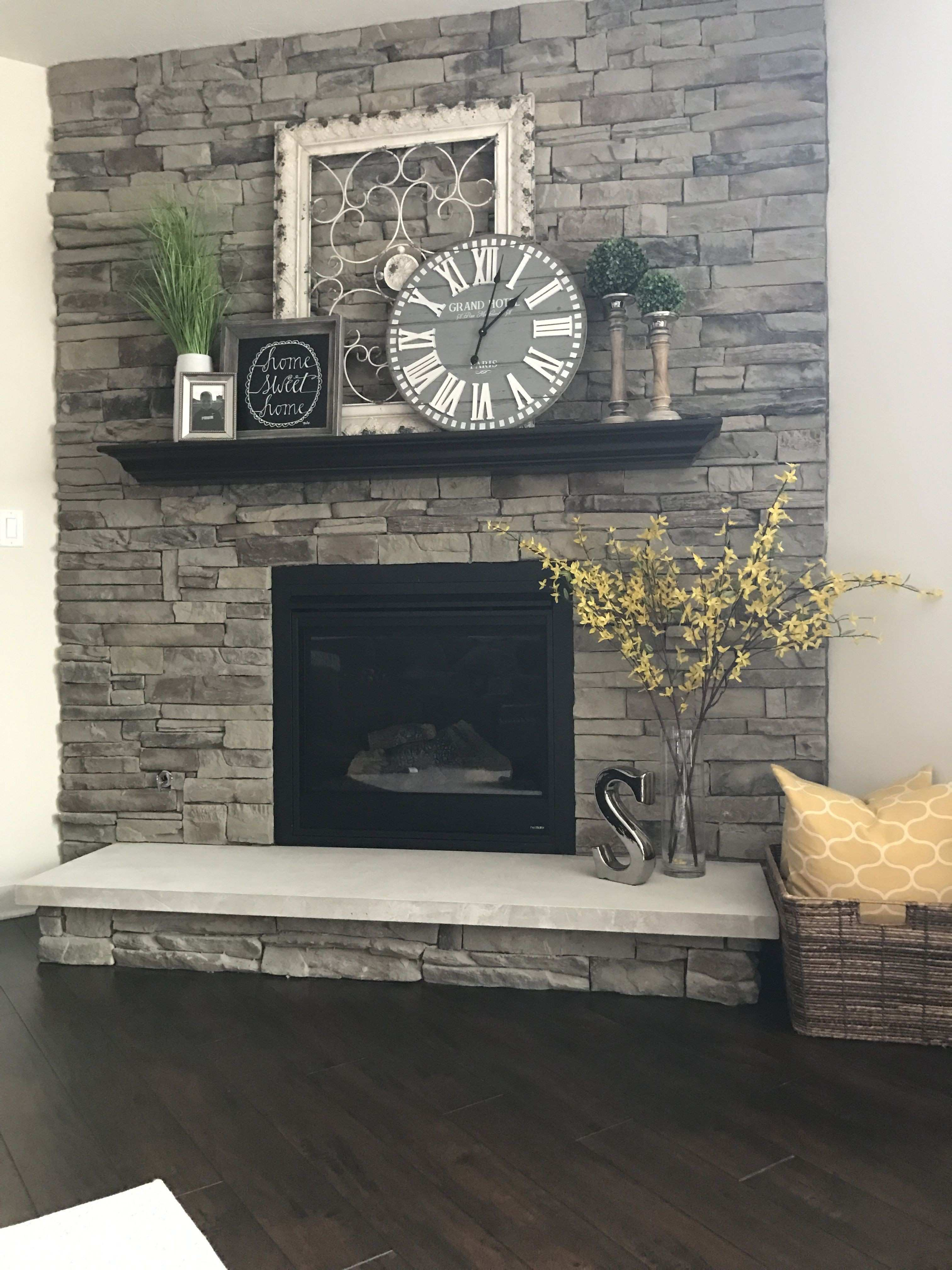 My fireplace Metal Frame Home sign & clock Hobby Lobby Candle