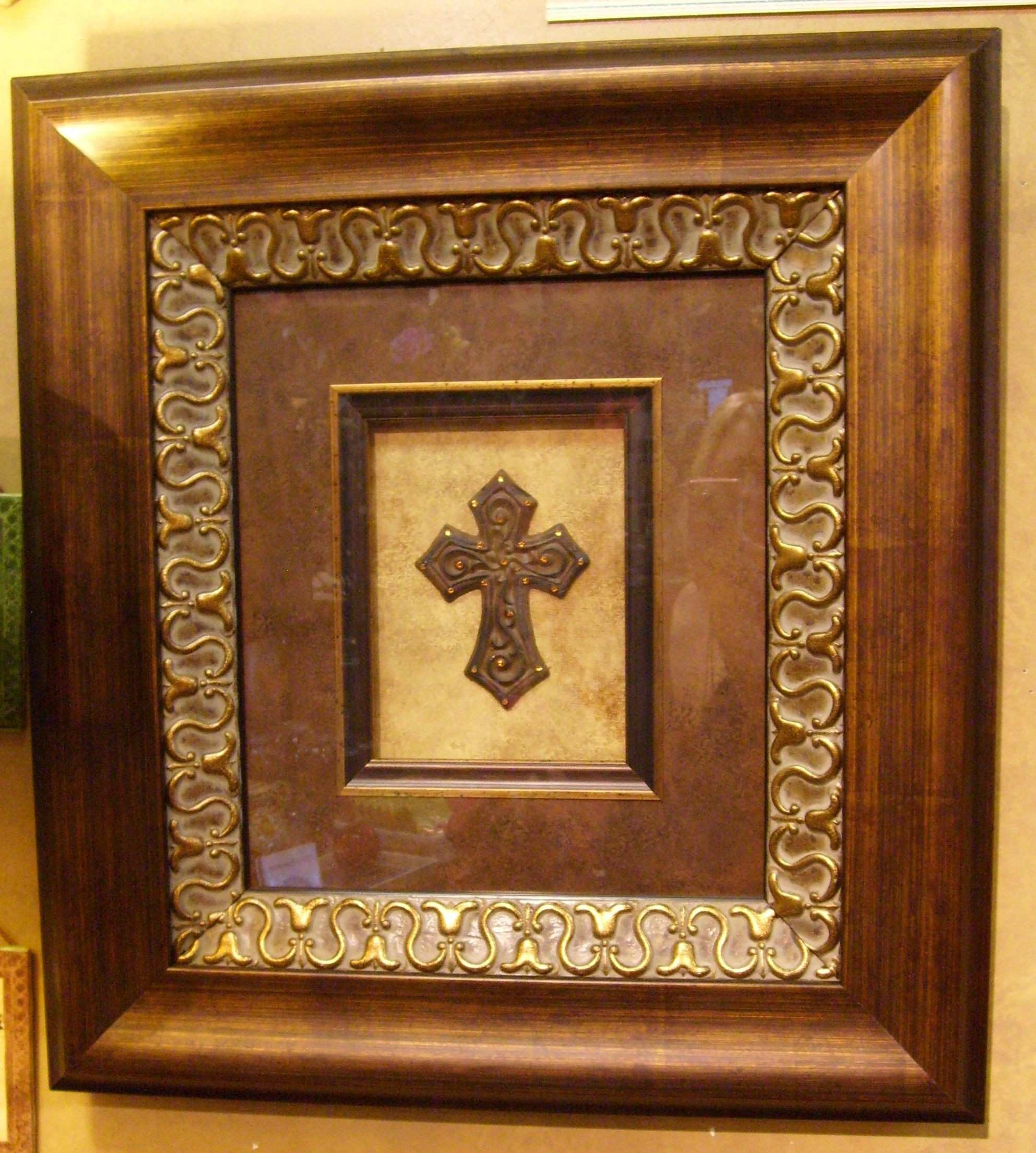 French Decor Tuscan Fleur De Lis Metal Wall Art Frame Sculpture Iron