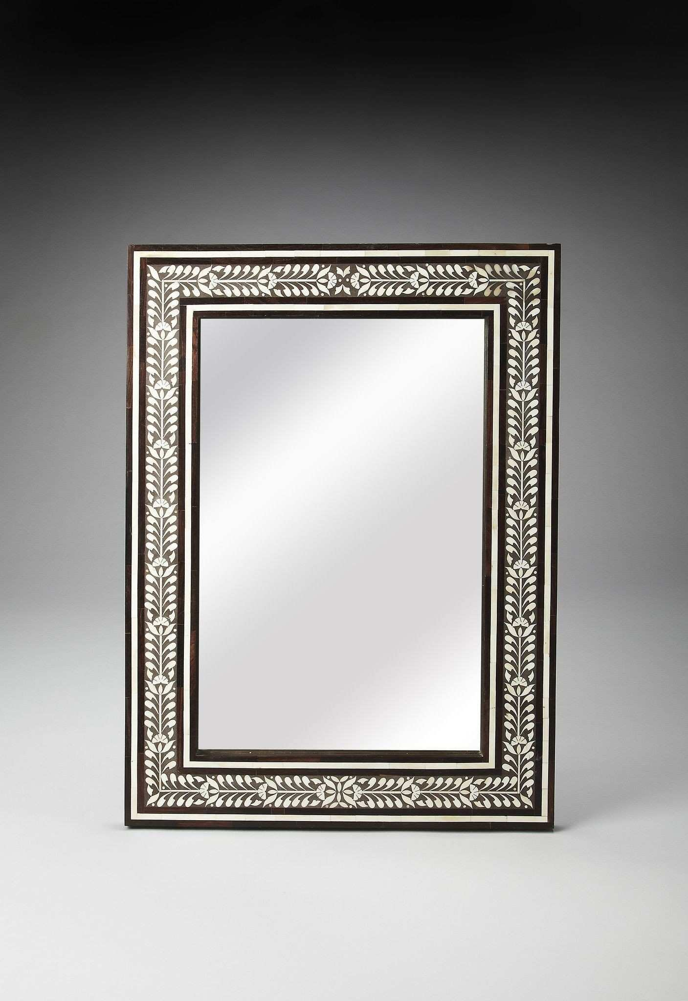 Bone Inlay Bone Inlay & Wood Wall Mirror Mirrors