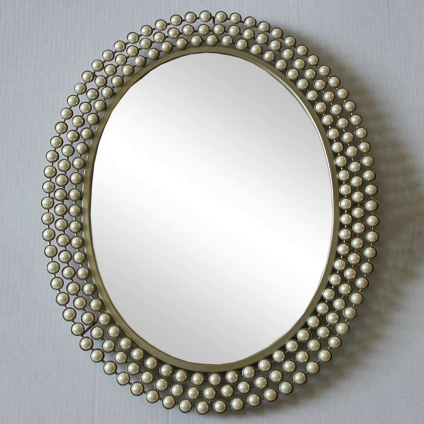 Cream Pearl Effect Wall Mirror Pinterest