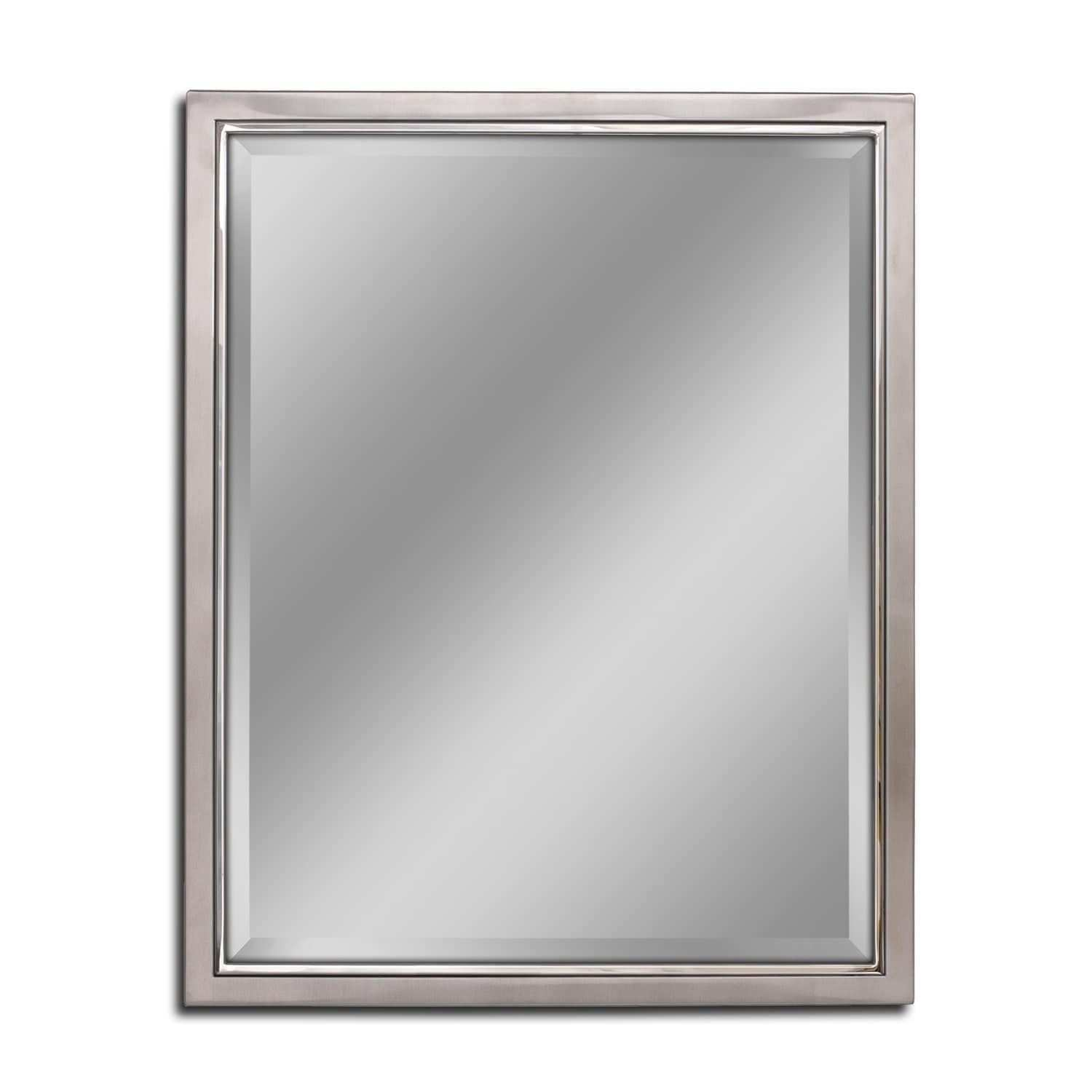 Headwest Classic Brush Nickel Chrome Wall Mirror Silver