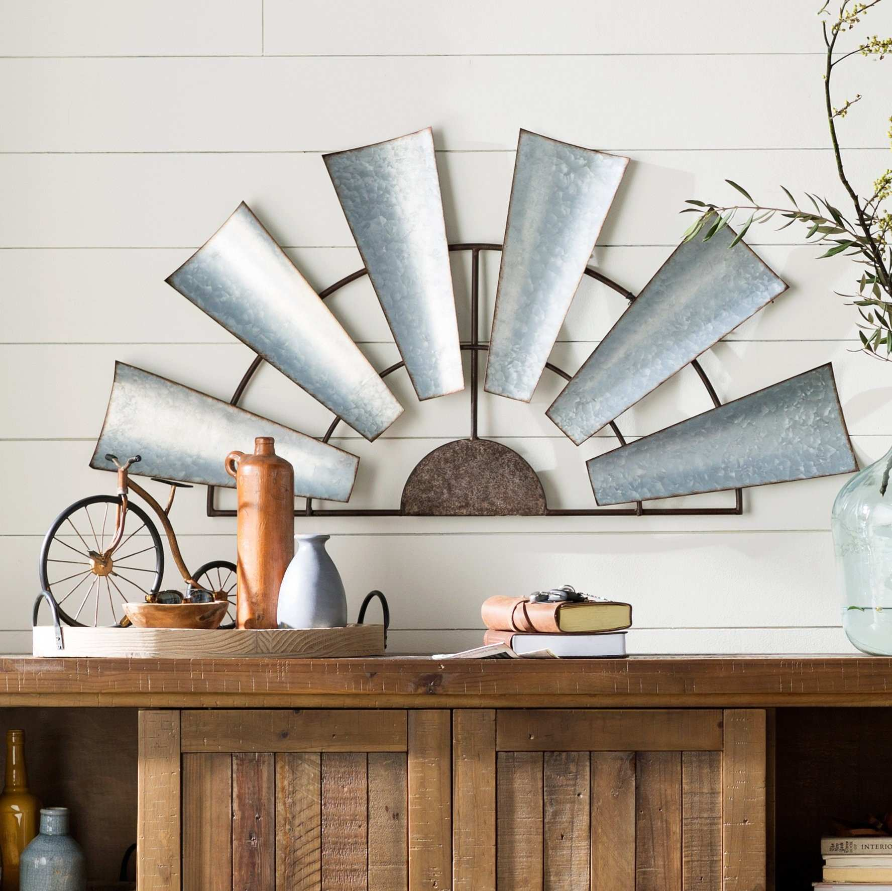 Beautiful Half Windmill Wall Decor