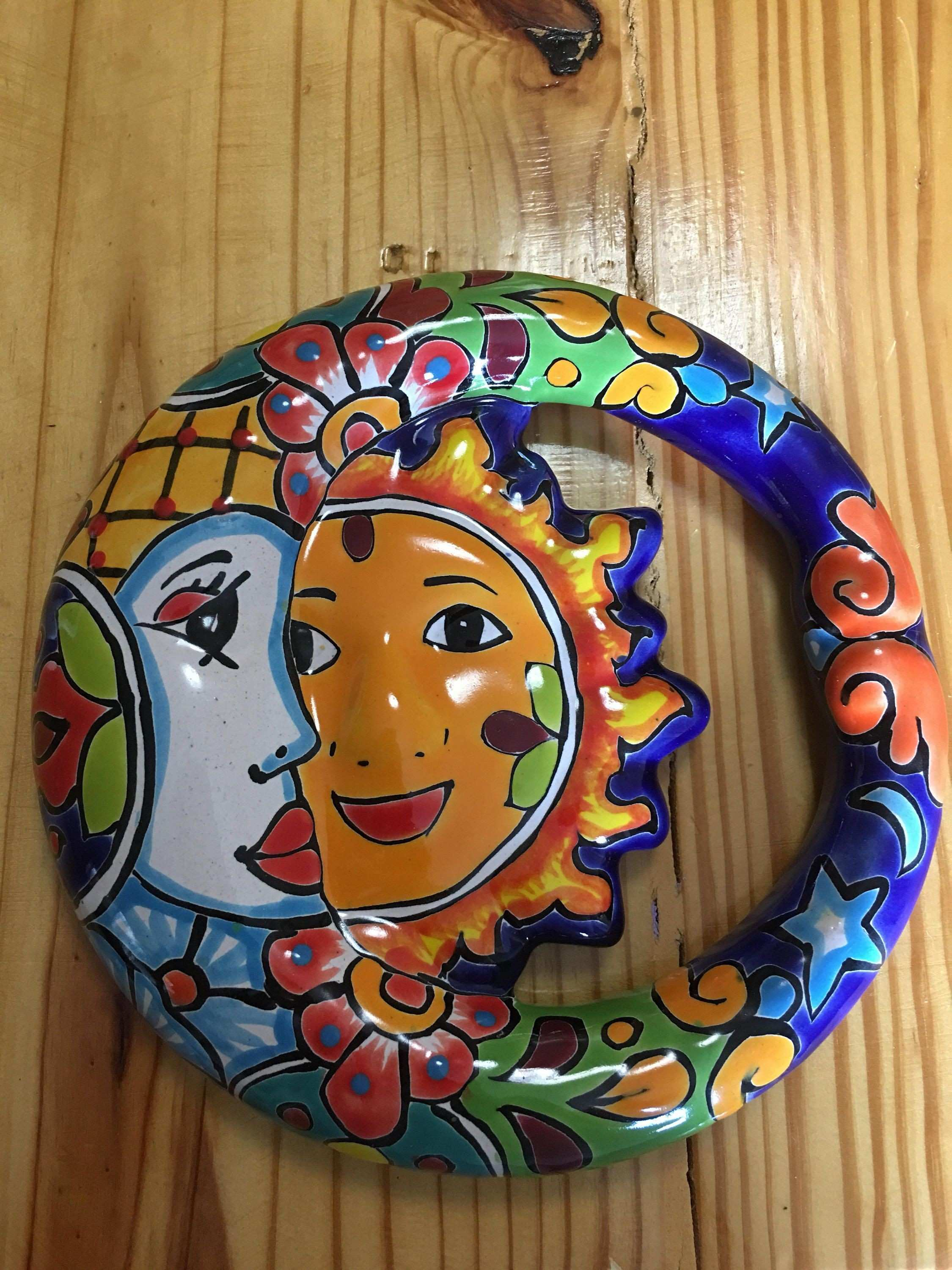 Talavera Wall Sun and Moon Talavera Eclipse Sun and Moon Design