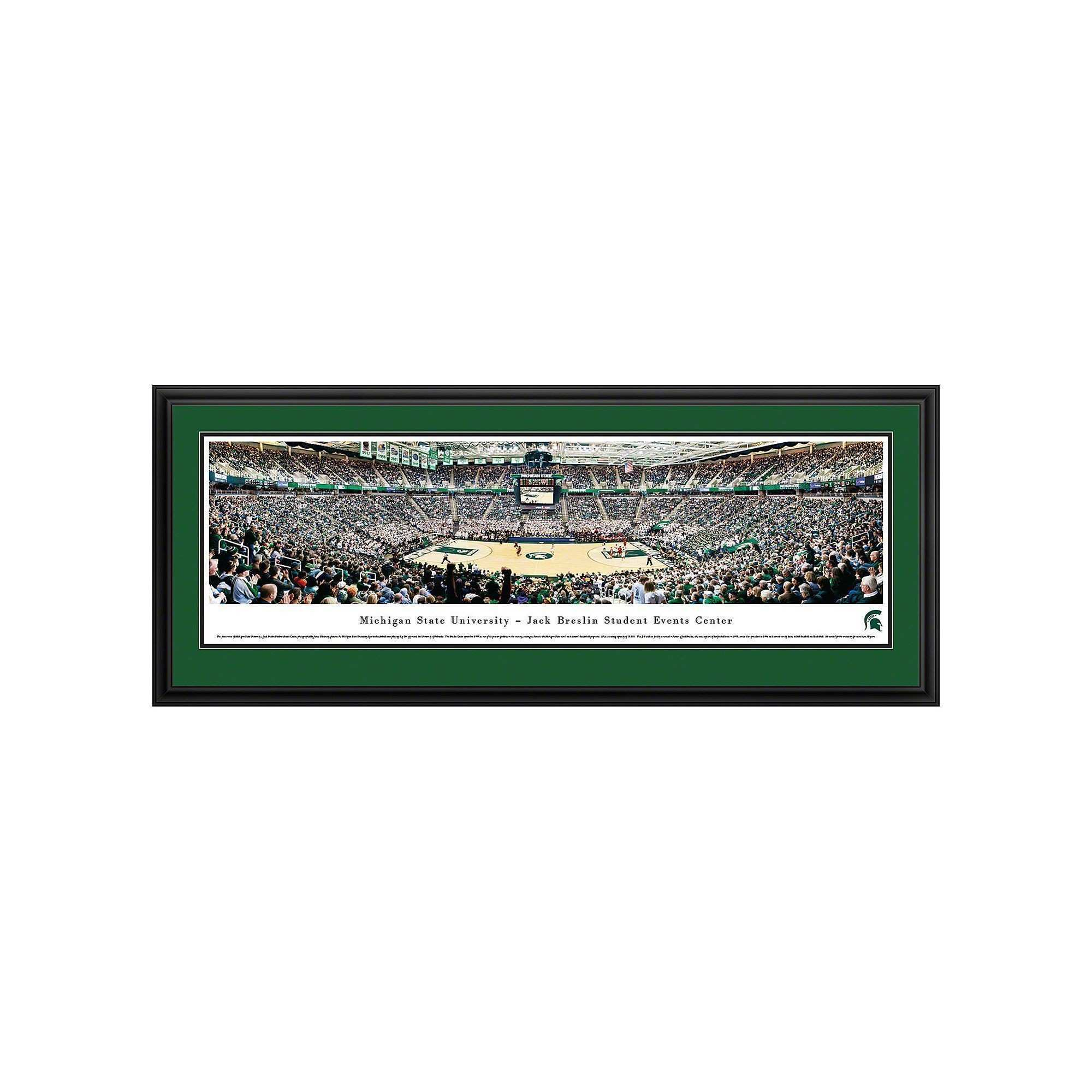 Michigan State Spartans Basketball Arena Framed Wall Art Multicolor