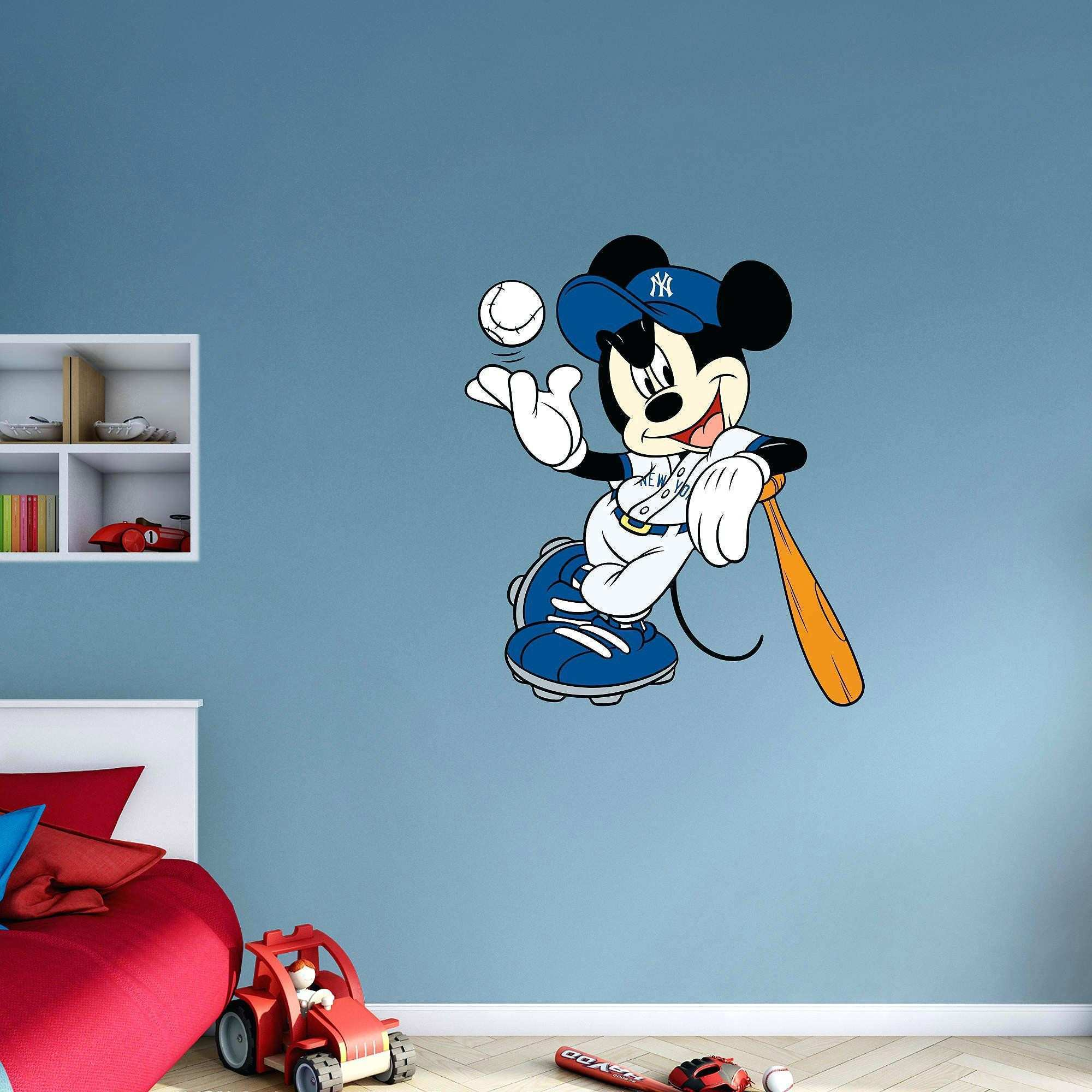 New York Yankees Wall Decals Mickey Mouse New By Fathead Mickey