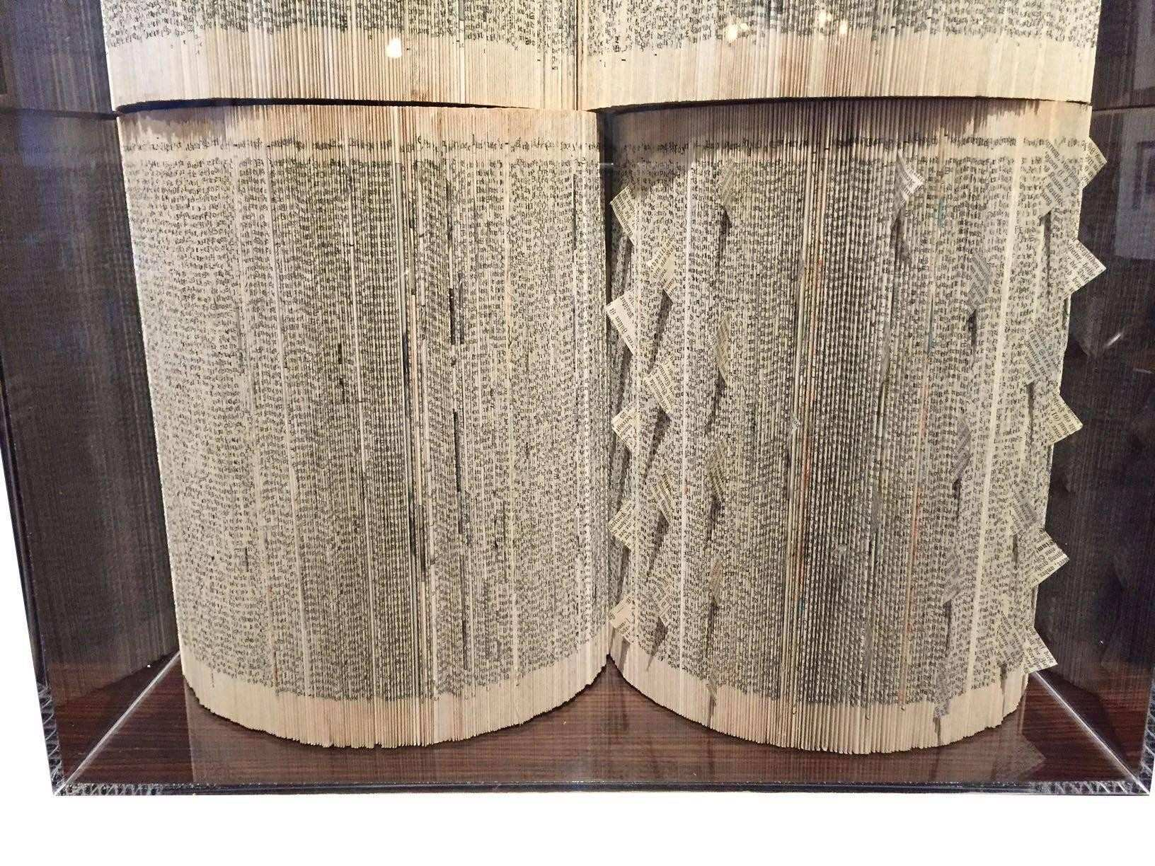 Vintage Book Wall Art Sculpture Italian Contemporary For Sale at