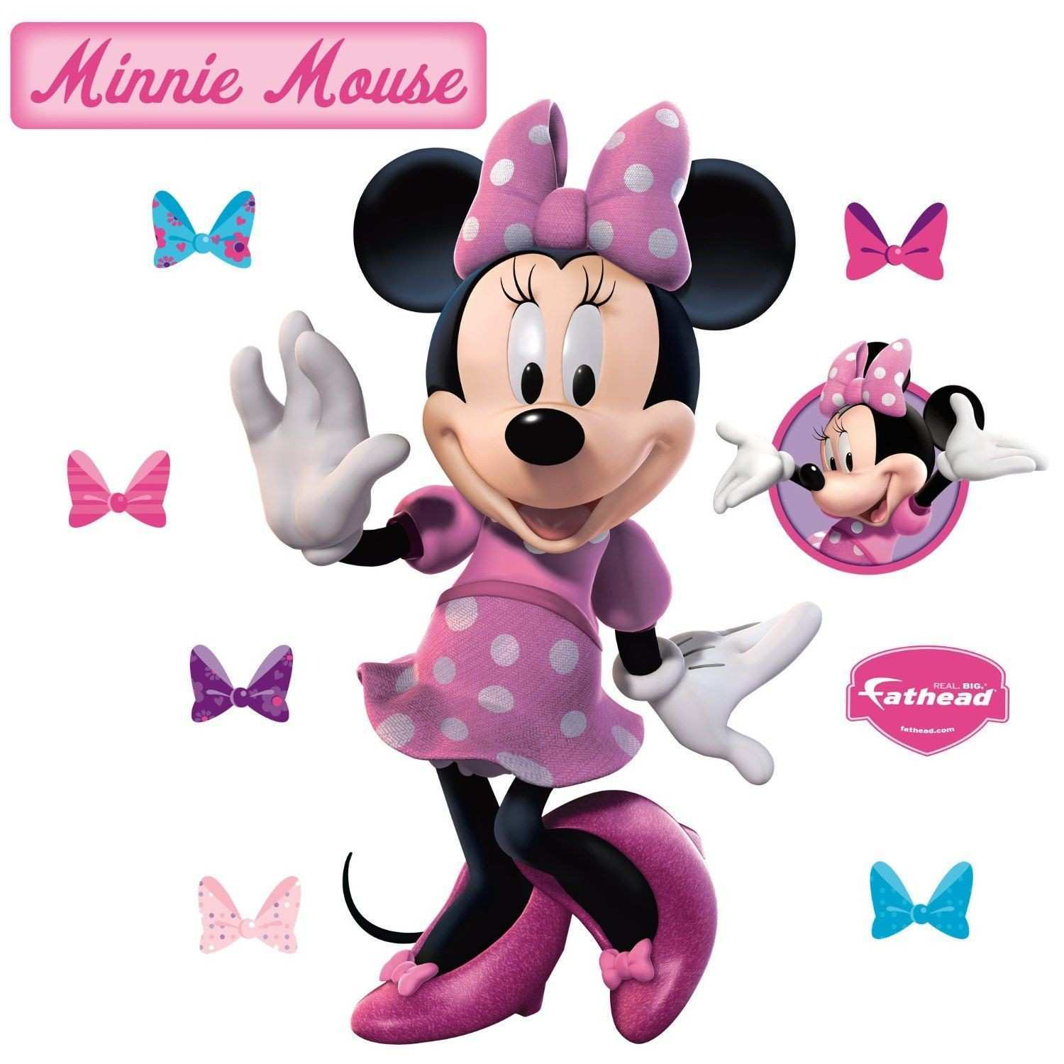 Minnie Mouse Pink Wall Decals stuff for lyla Pinterest