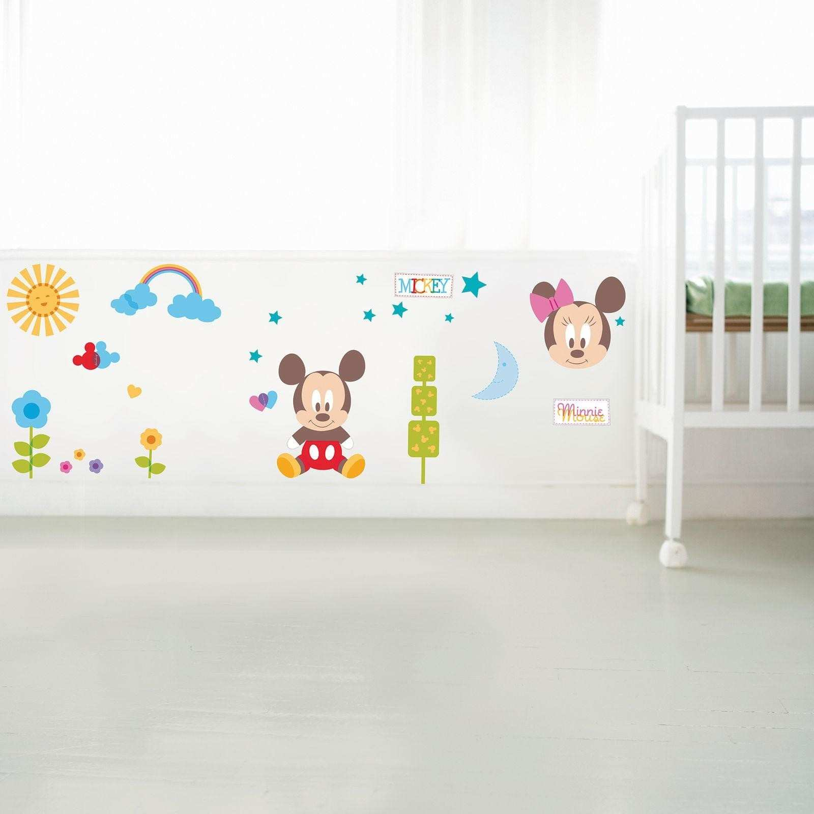 Disney Mickey Mouse & Minnie Mouse Wall Stickers Bedroom Nursery