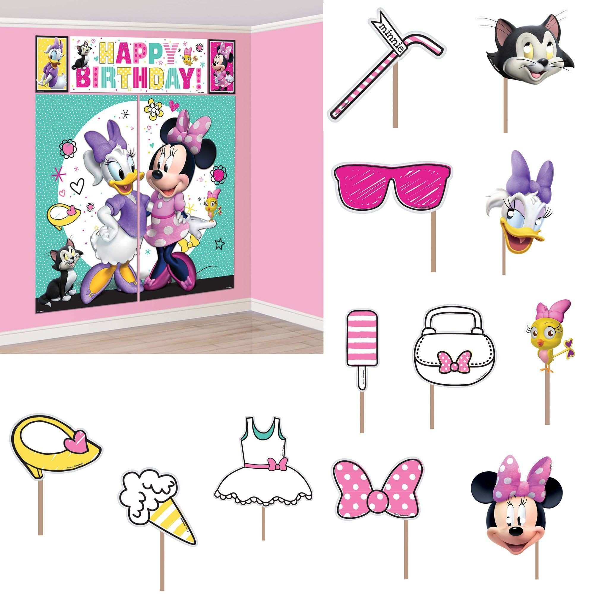 Minnie Mouse Helpers Scene Setter Wall Decoration With Booth Props