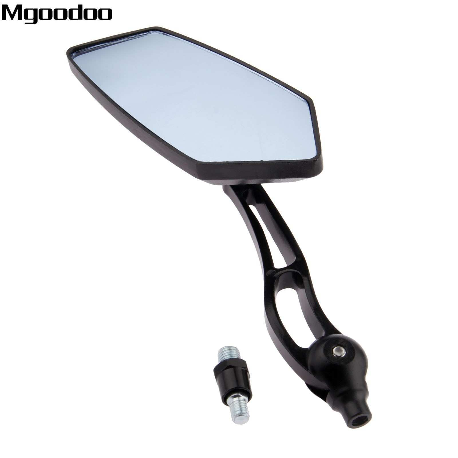 1 Pair Motorcycle Side Rearview Mirrors 8mm 10mm Universal