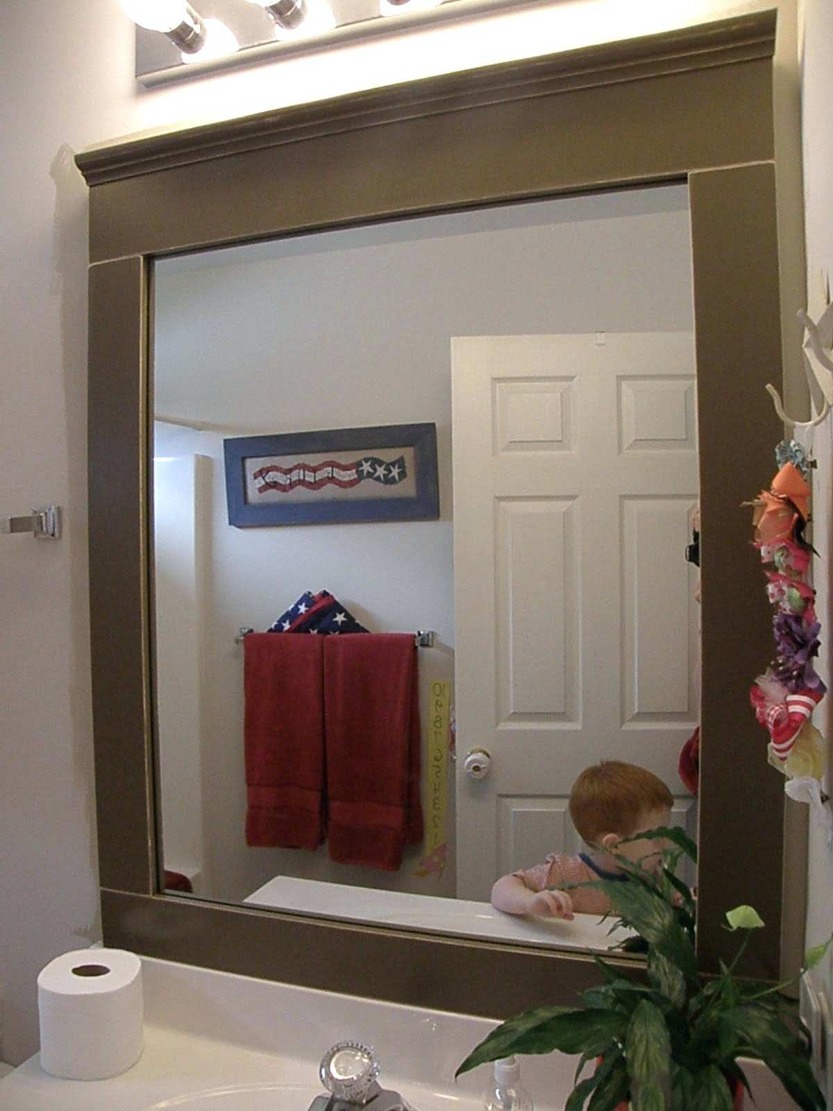 Wall Mirrors Rustic Wooden Bathroom Wall Mirror Frames With Wall