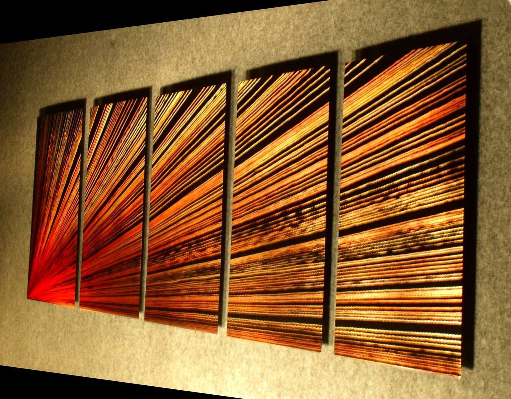Amazon Pulsar left 64 inch X 24 inch Abstract Painting Metal