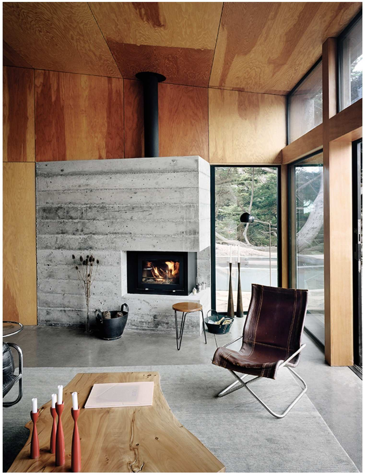 Modern Cabin Living Room Beautiful Modern Home Joins A Storied Site
