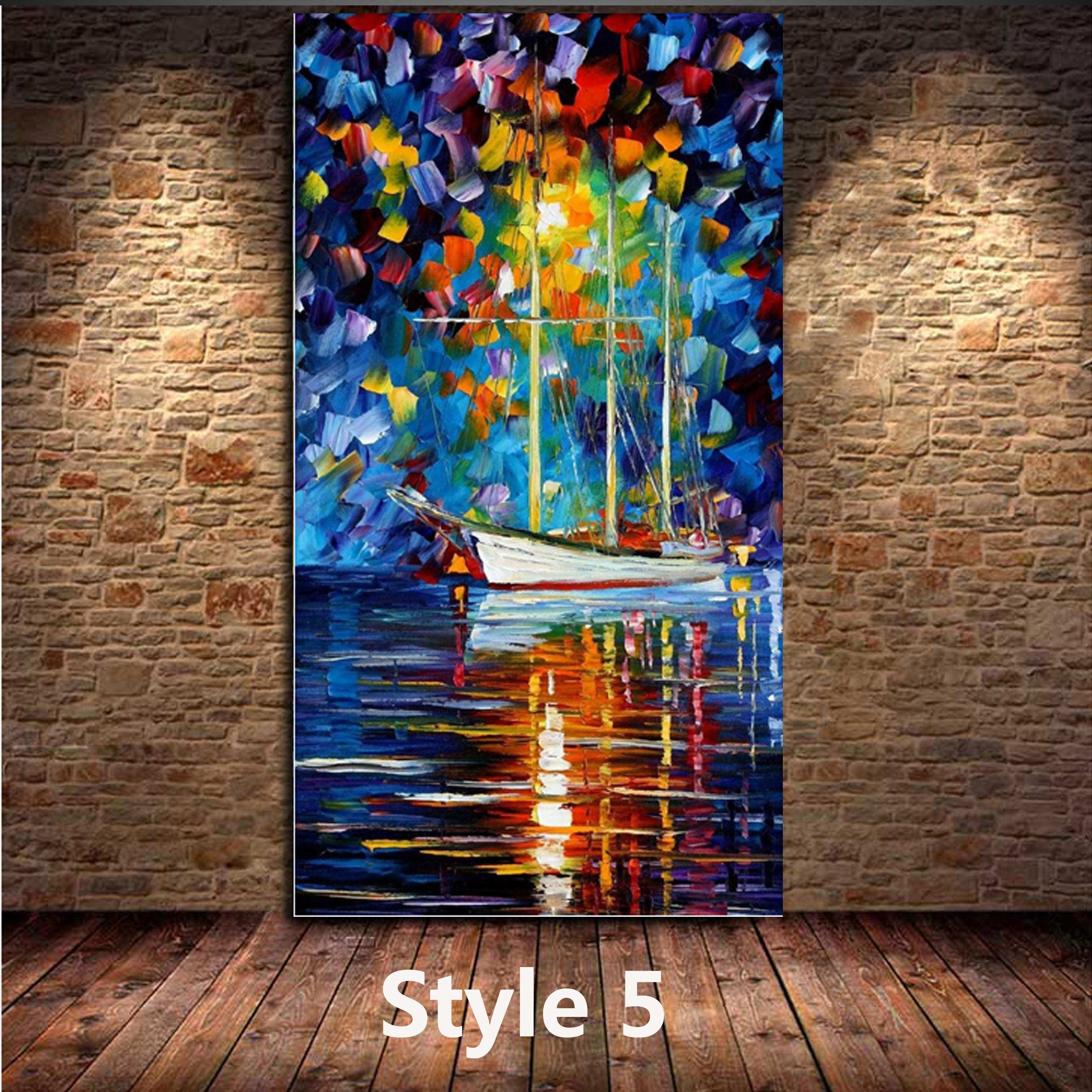 2018 Kg Handmade Acrylic Painting Canvas Art Knife Paintings River