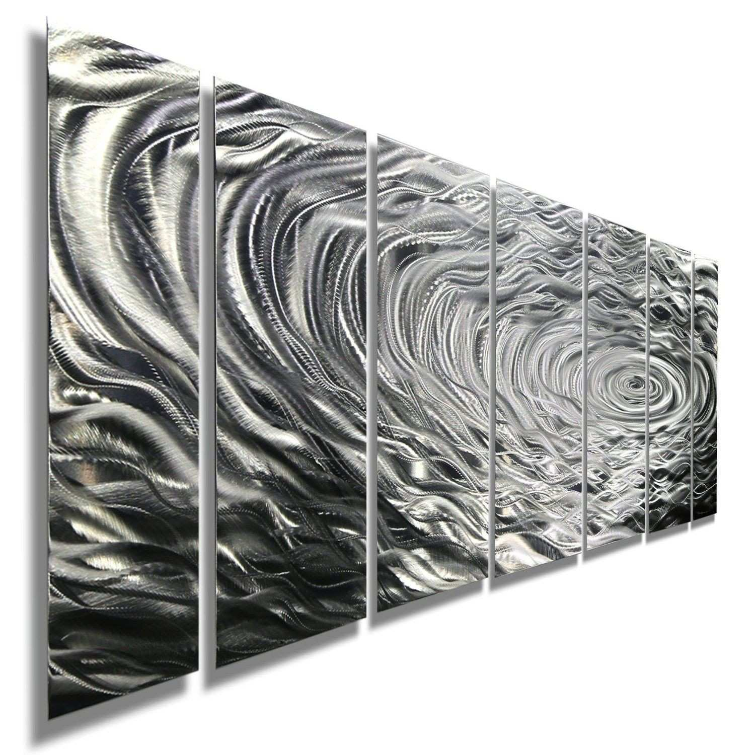 Amazon Silver Water Inspired Metal Wall Art