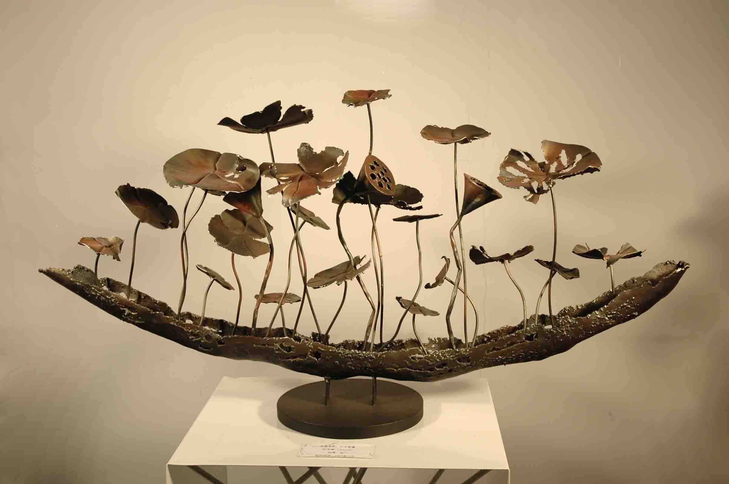Good Looking Metal Home Decor 3 Sculptures For