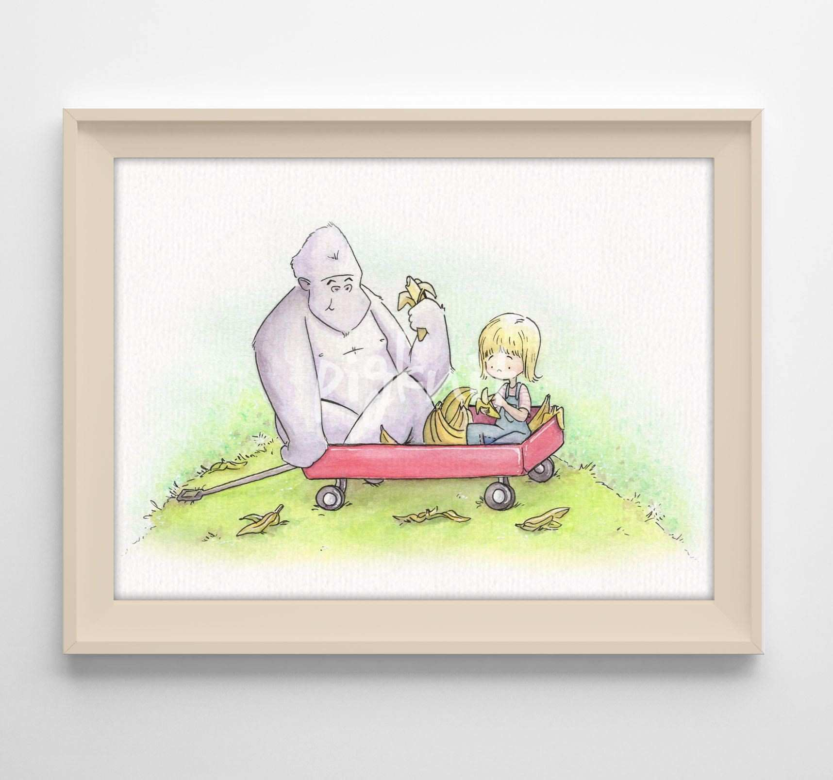Monkey Wall Stickers Best Of Whimsical Watercolor Illustration Monkey Illustration Monkey Baby