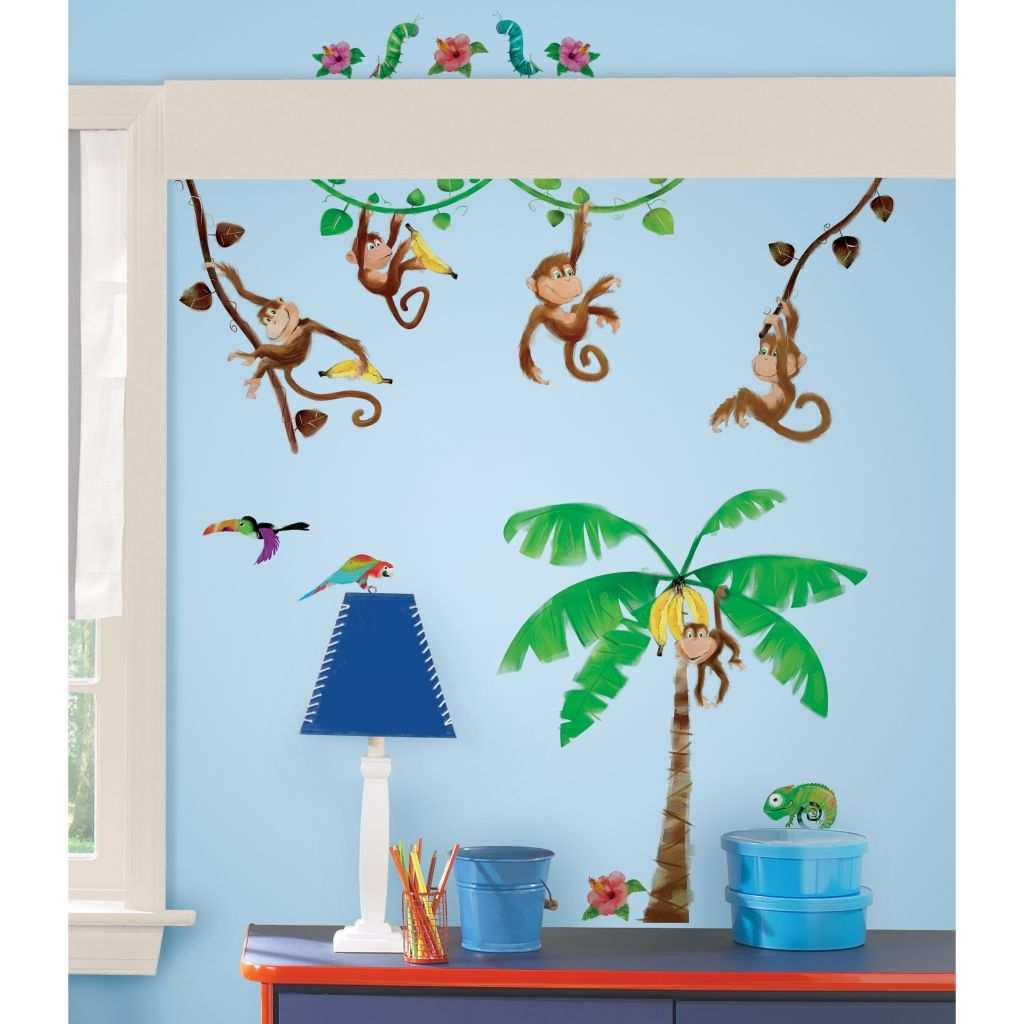 Monkey Wall Stickers Elegant Jungle Safari Wall Decals Wayfair Studio Designs Monkey Business