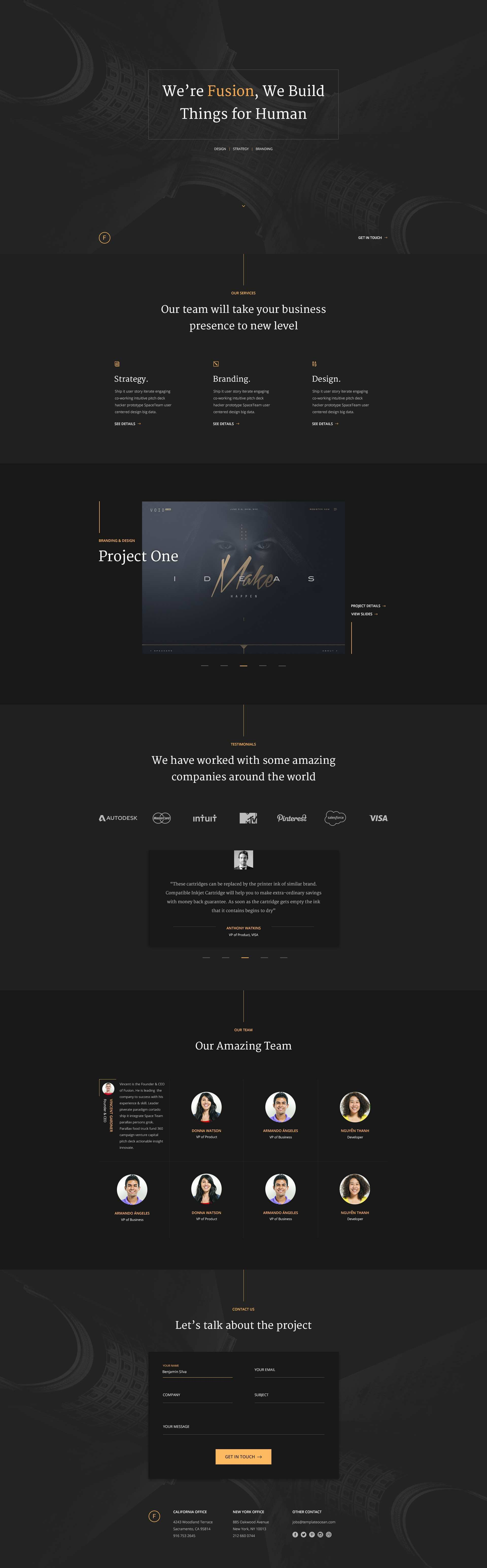 Free Portfolio Template for personal and agency website Template