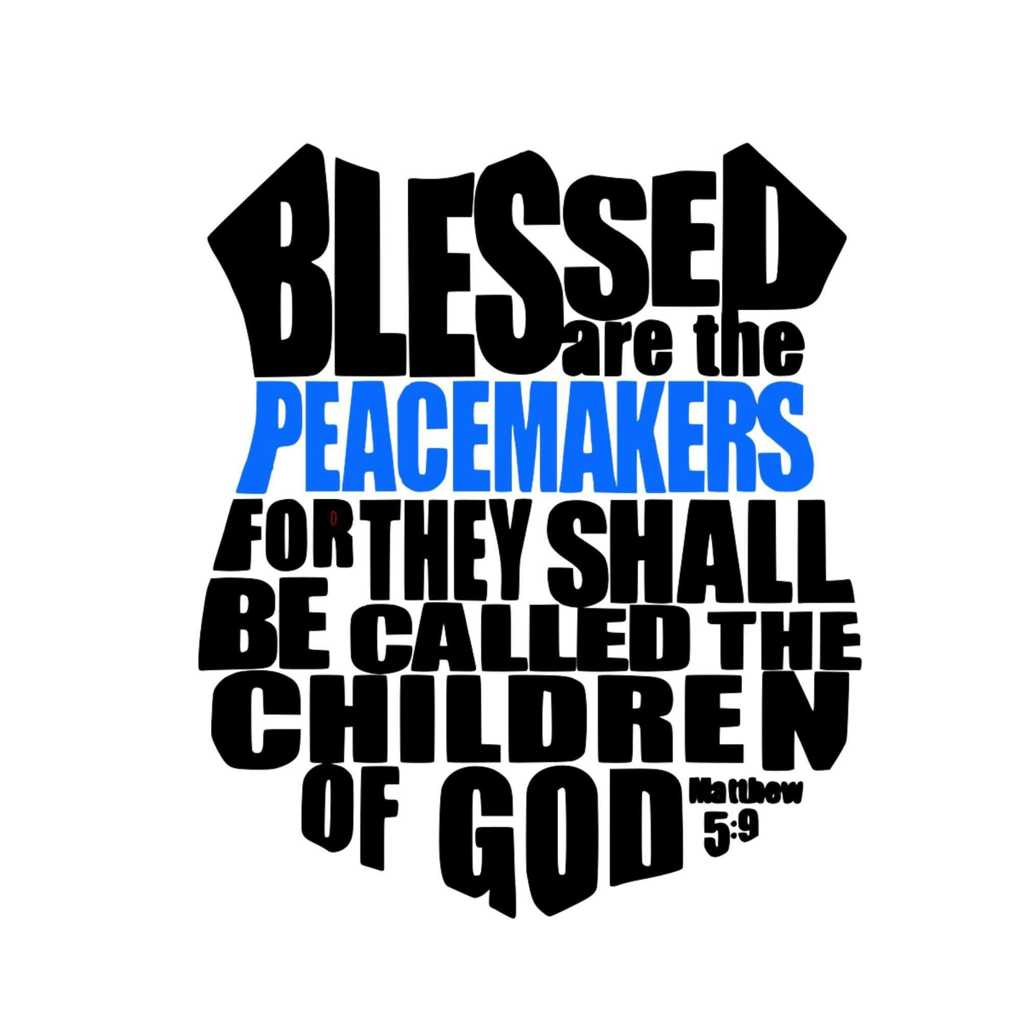 Blessed are the Peacemakers Police Shield Vinyl Decal