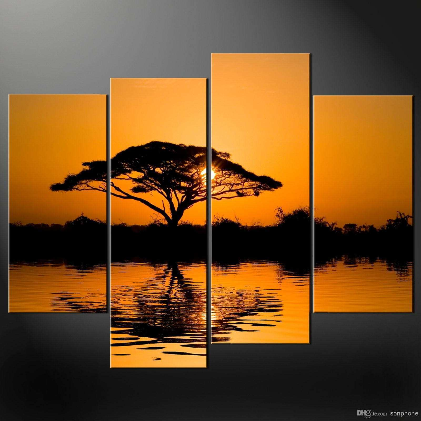 Wall Art Designs perfect picture 4 panel canvas wall art painting