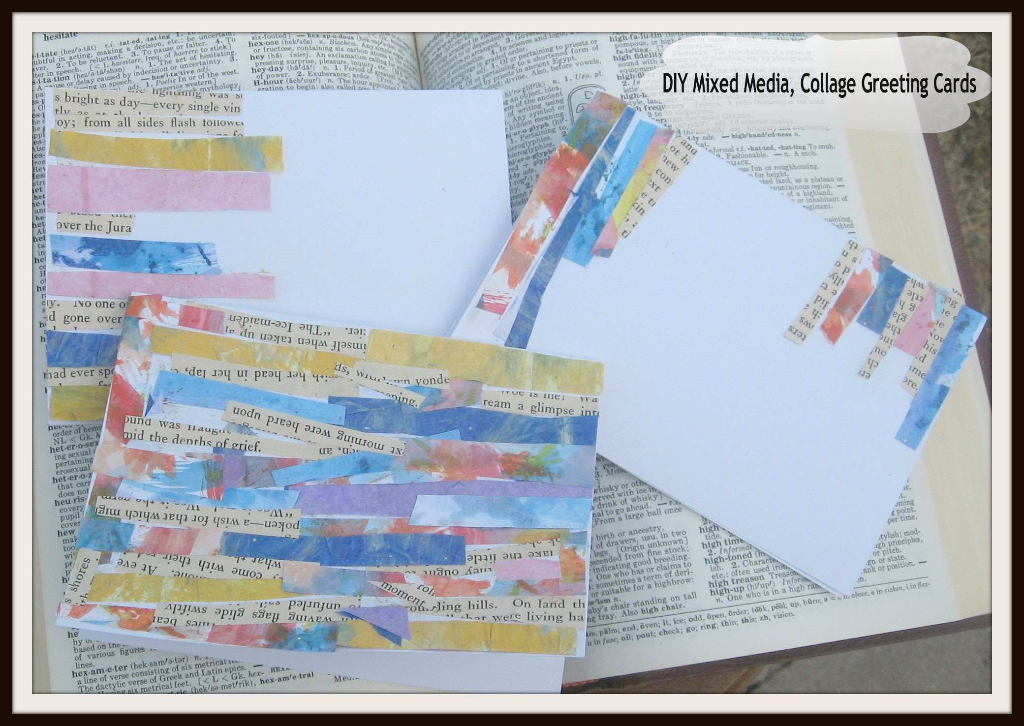 DIY Mixed Media Art Collage Greeting Cards Mixed Media Collage