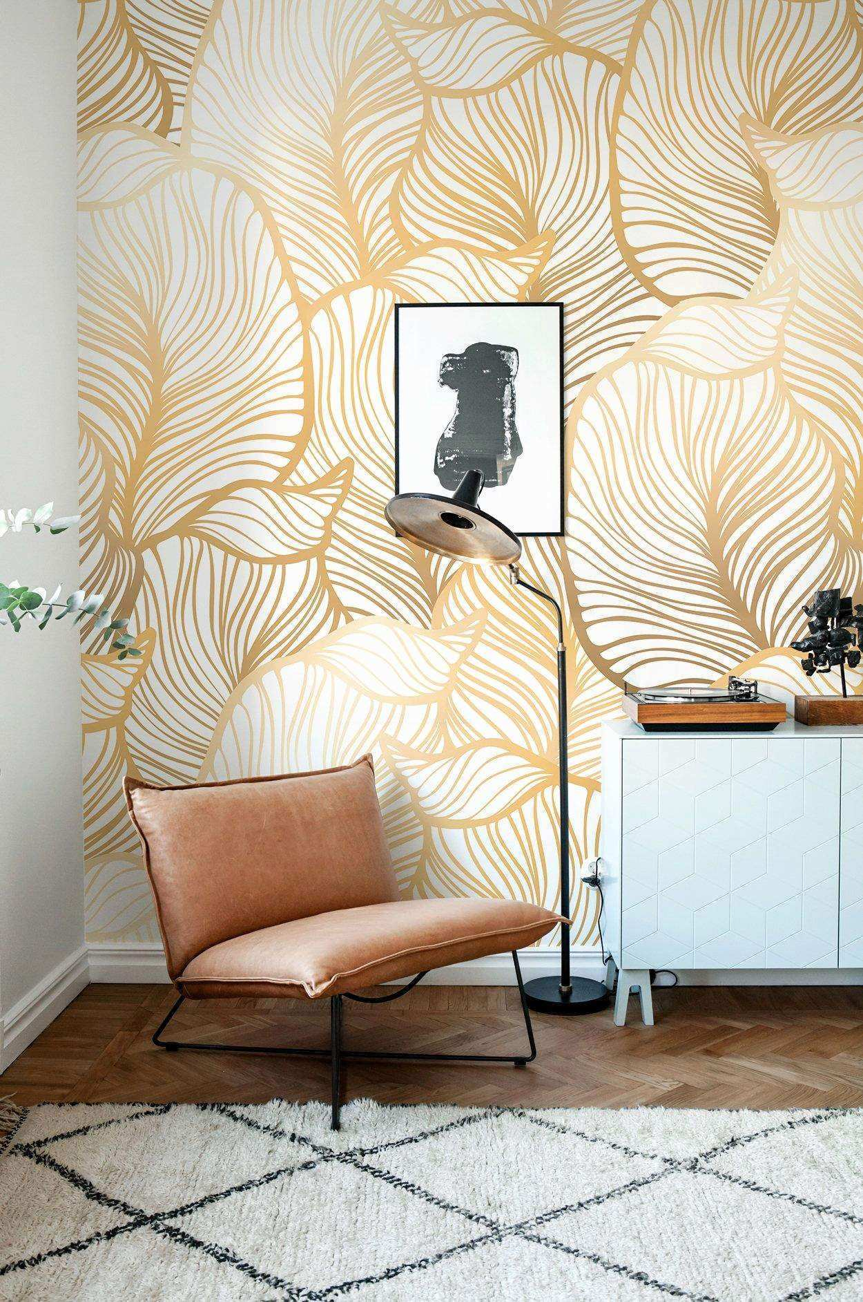 Wall Mural Ideas for Living Room Inspirational Leaf Wallpaper Exotic