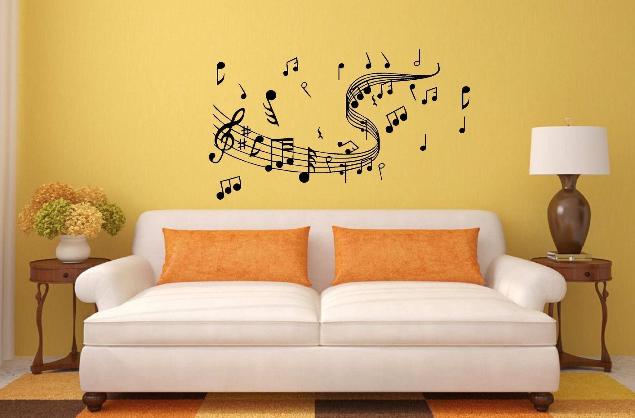 Fine Metal Music Notes Wall Art Vignette The Wall Art Decorations