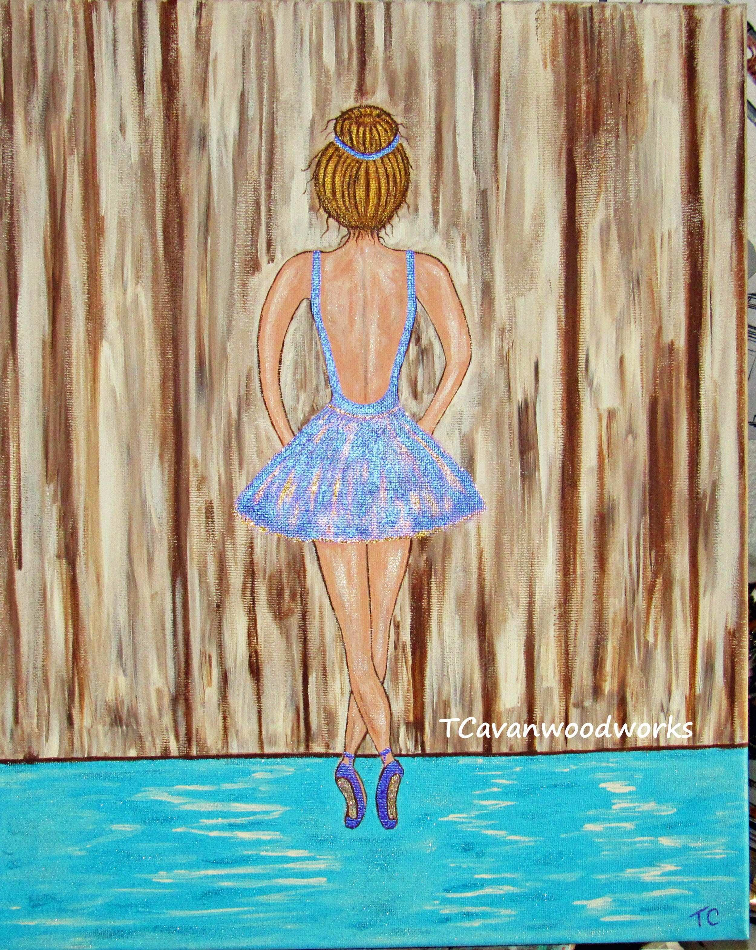 Ballerina acrylic painting on canvas original artwork by