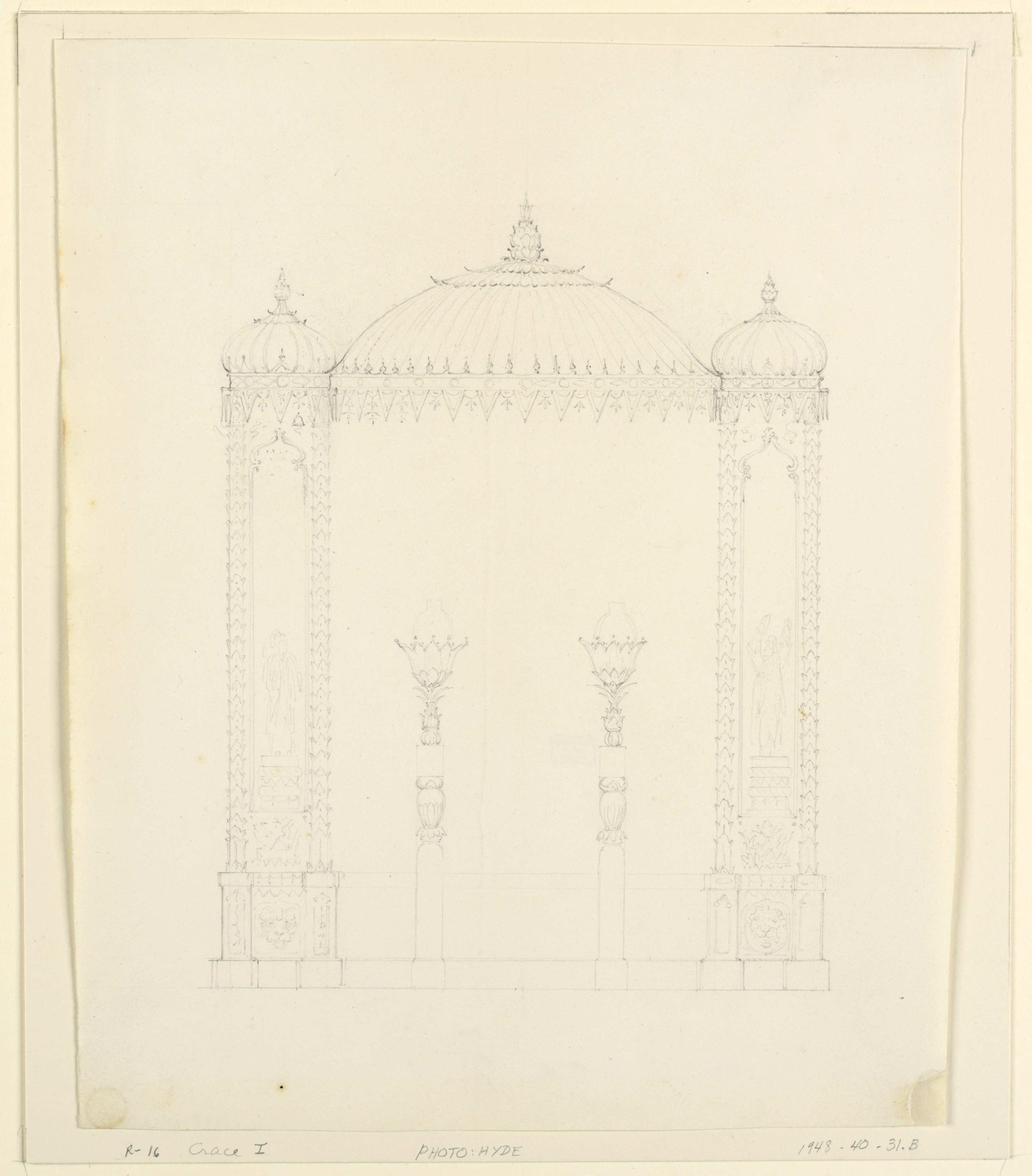 File Drawing Lamp Standards and Wall Decoration Royal Pavilion