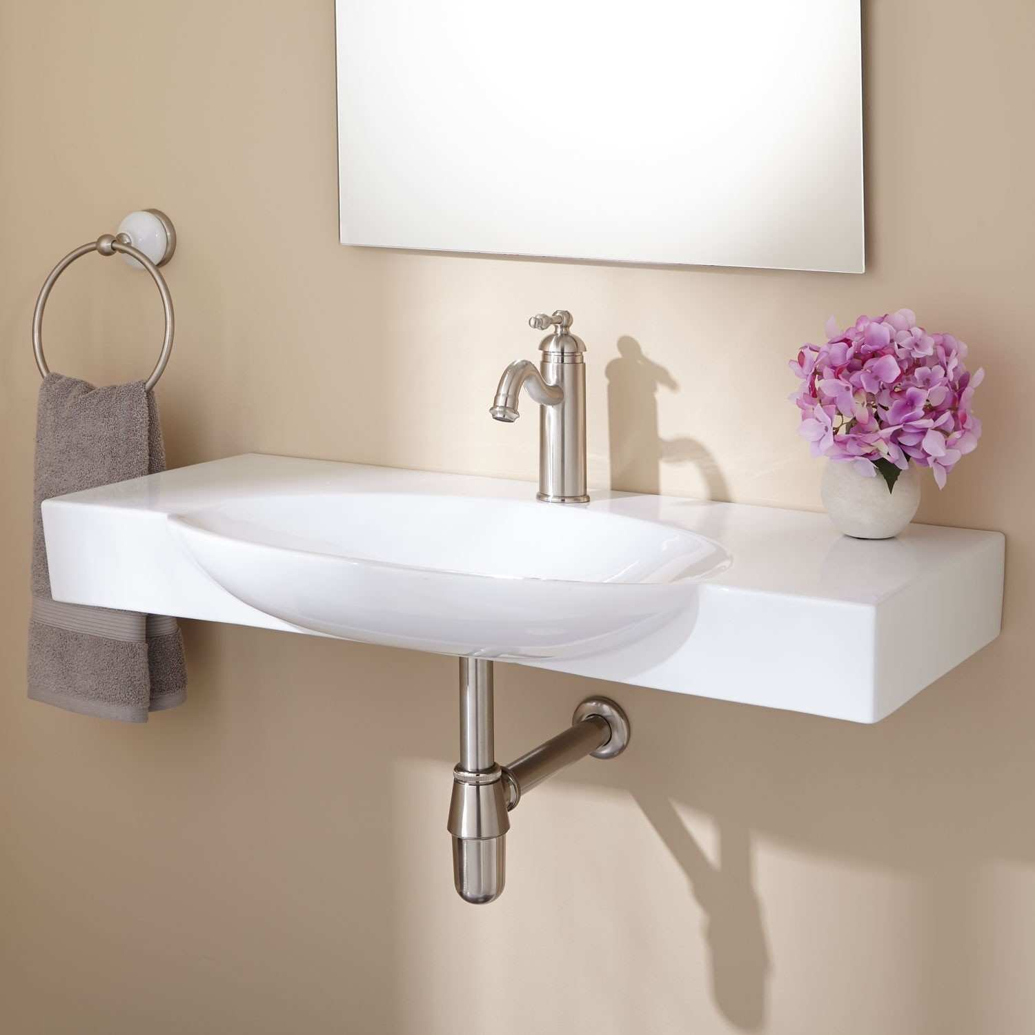Wall Decor For Small Bathrooms Vanity With Sink And Faucet H Sink