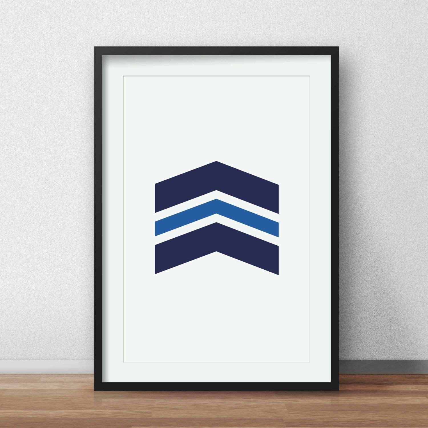 Blue Chevrons Wall Navy Chevron Print Navy Wall Prints Printable