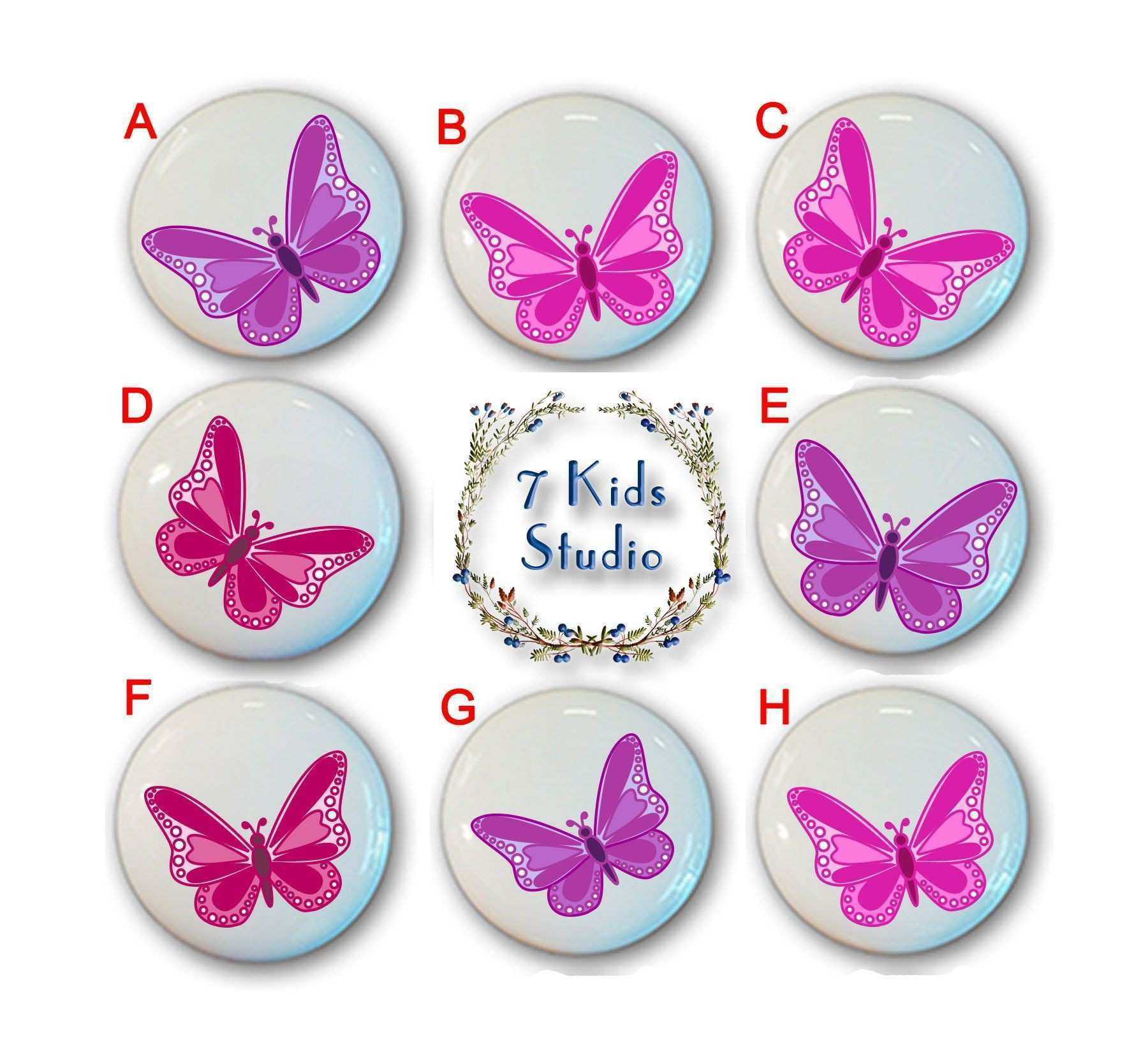 Butterflies Nursery Drawer Knob Drawer Pull Handle Dresser Cabinet