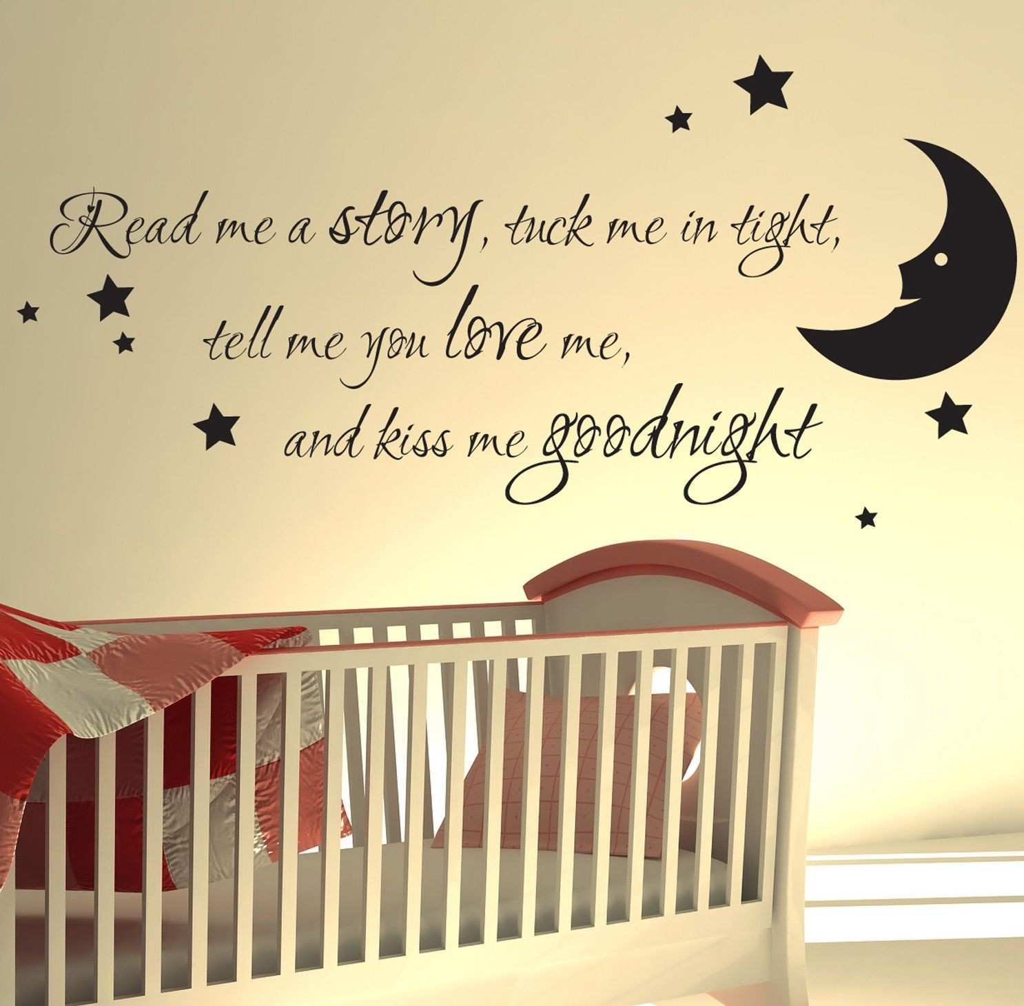 Nursery wall sticker read me a story kids art decals quotes w47