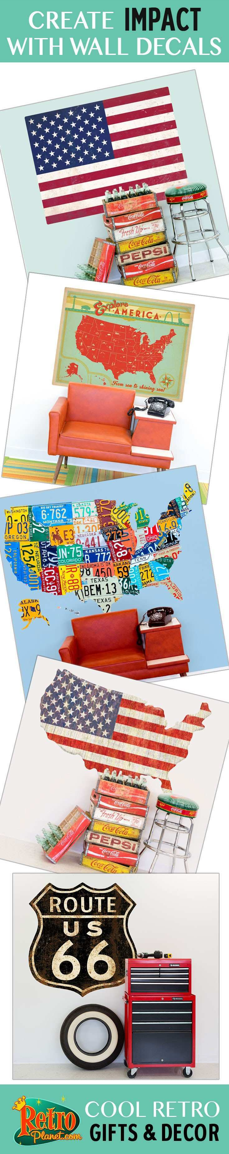 From New York City to Brazil these destination wall decals are