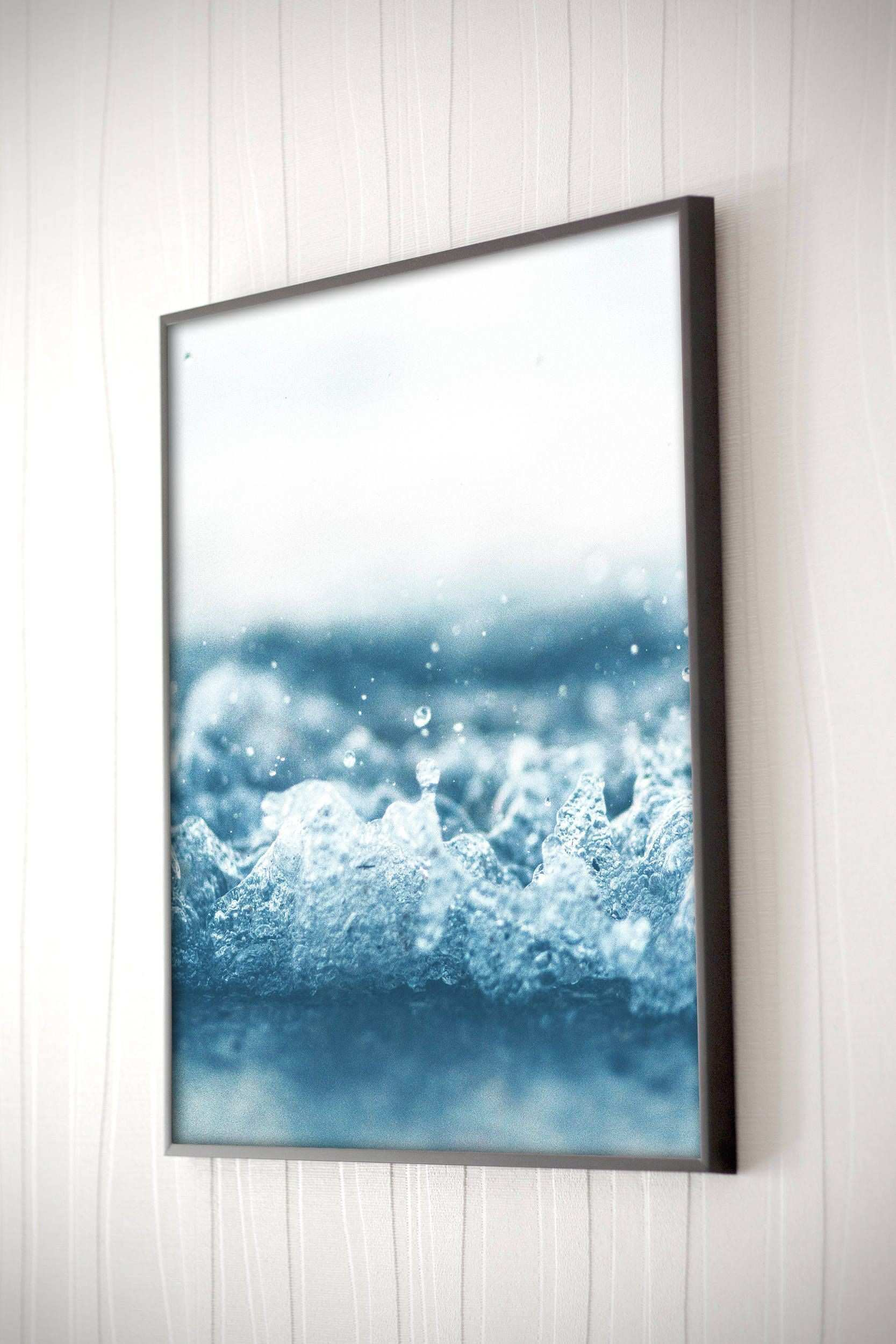 Ocean Splash Print Ocean Wall Art Blue Wall Art Coastal Home Scheme