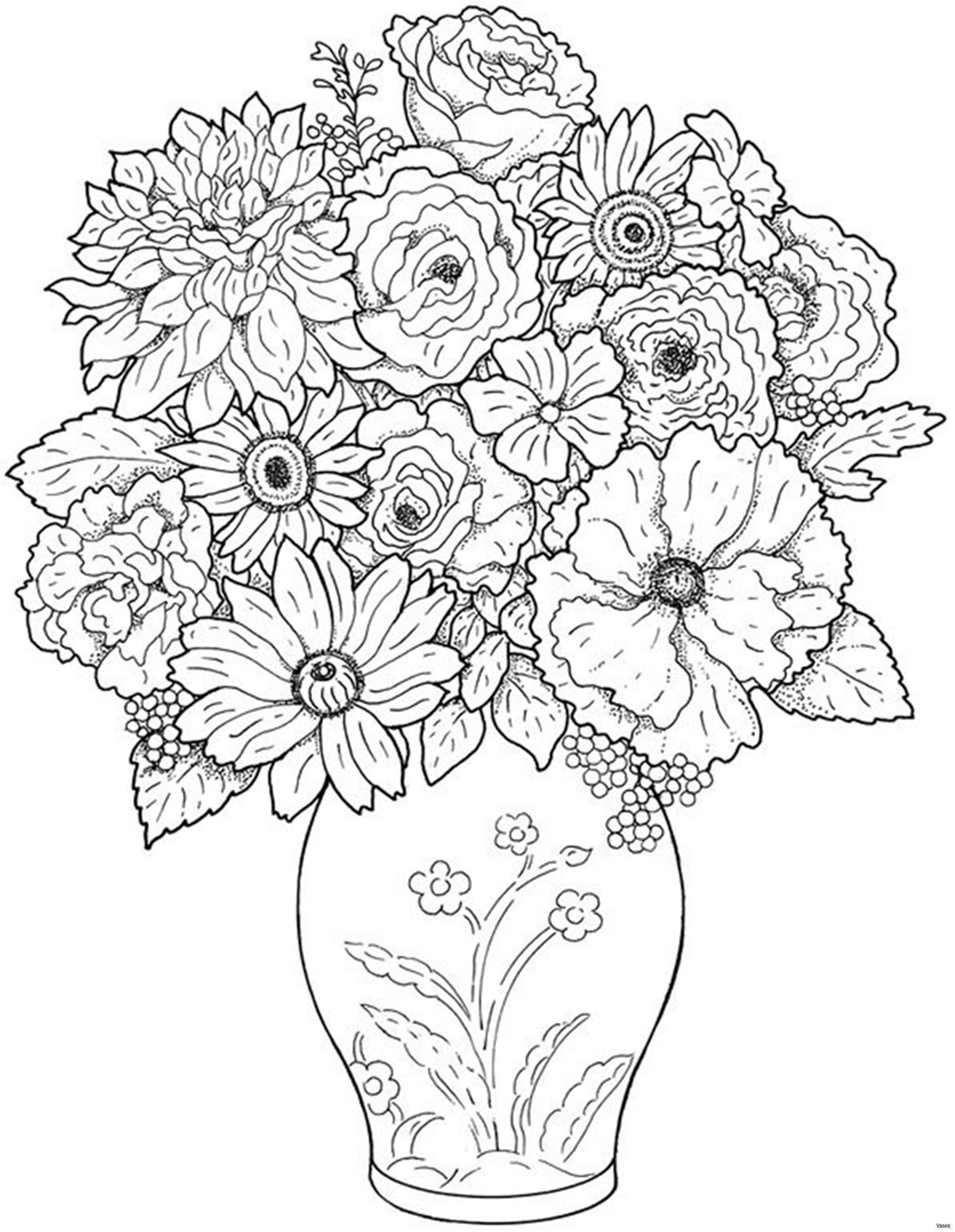 Coloring Art Luxury Cool Vases Flower Vase Coloring Page Pages