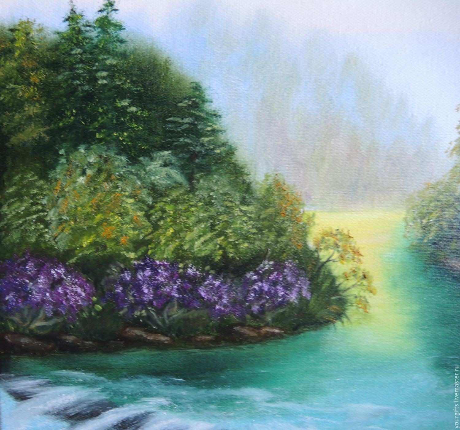 """Forest river"""" oil painting – shop online on Livemaster with shipping"""