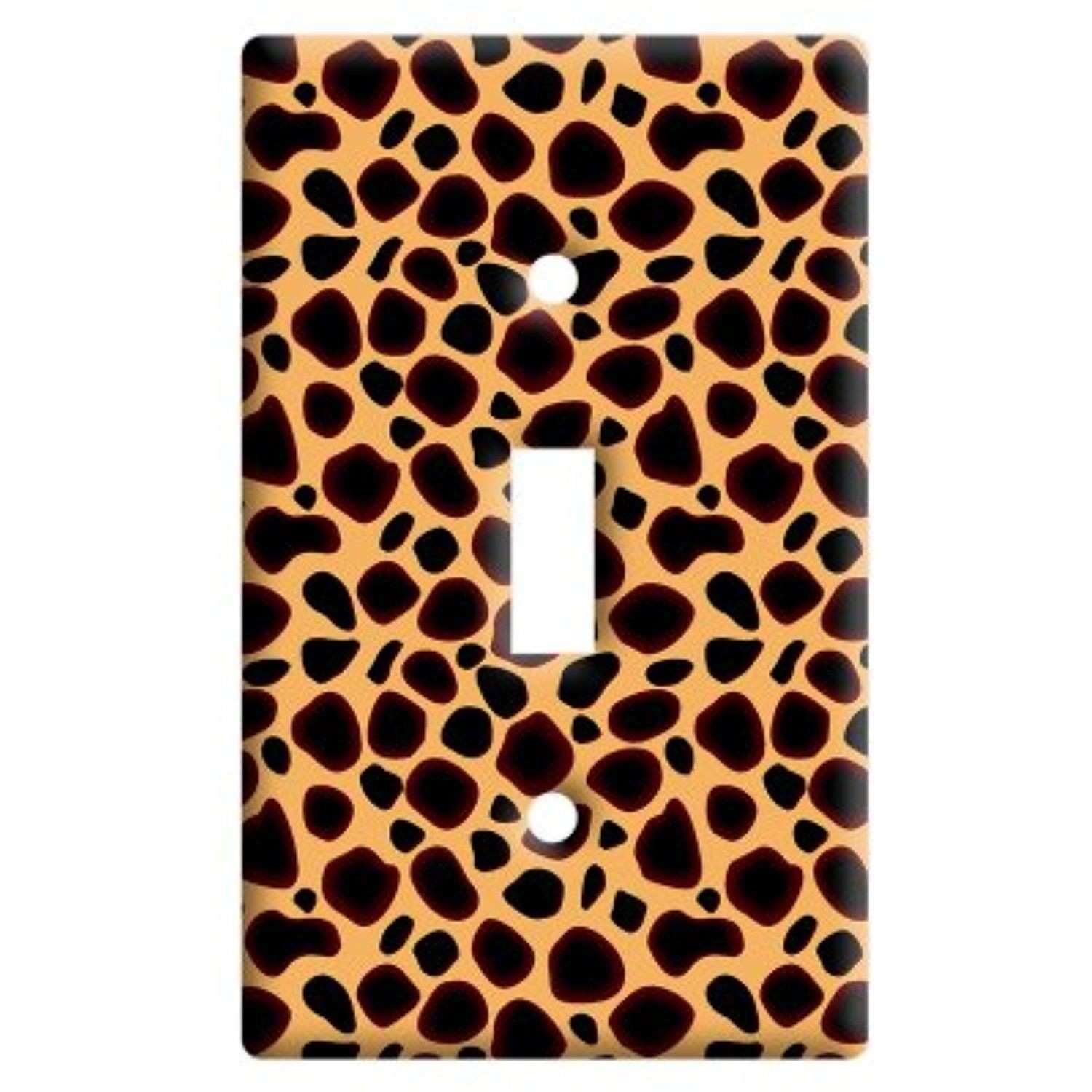 Cheetah Print Plastic Wall Decor Toggle Light Switch Plate Cover