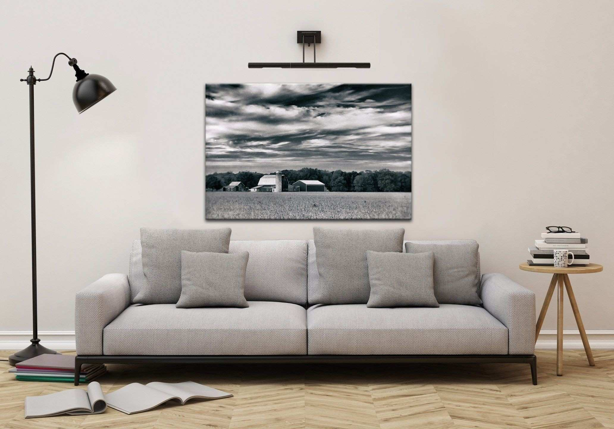Old Black and White Photos Luxury Fine Art Landscape Red Barn In Golden Field Vintage Black and