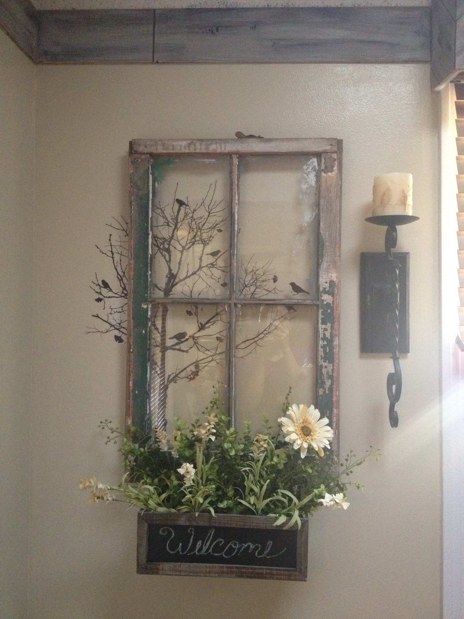 My Vision An Old Window Repurposed Except with A Mirror Instead